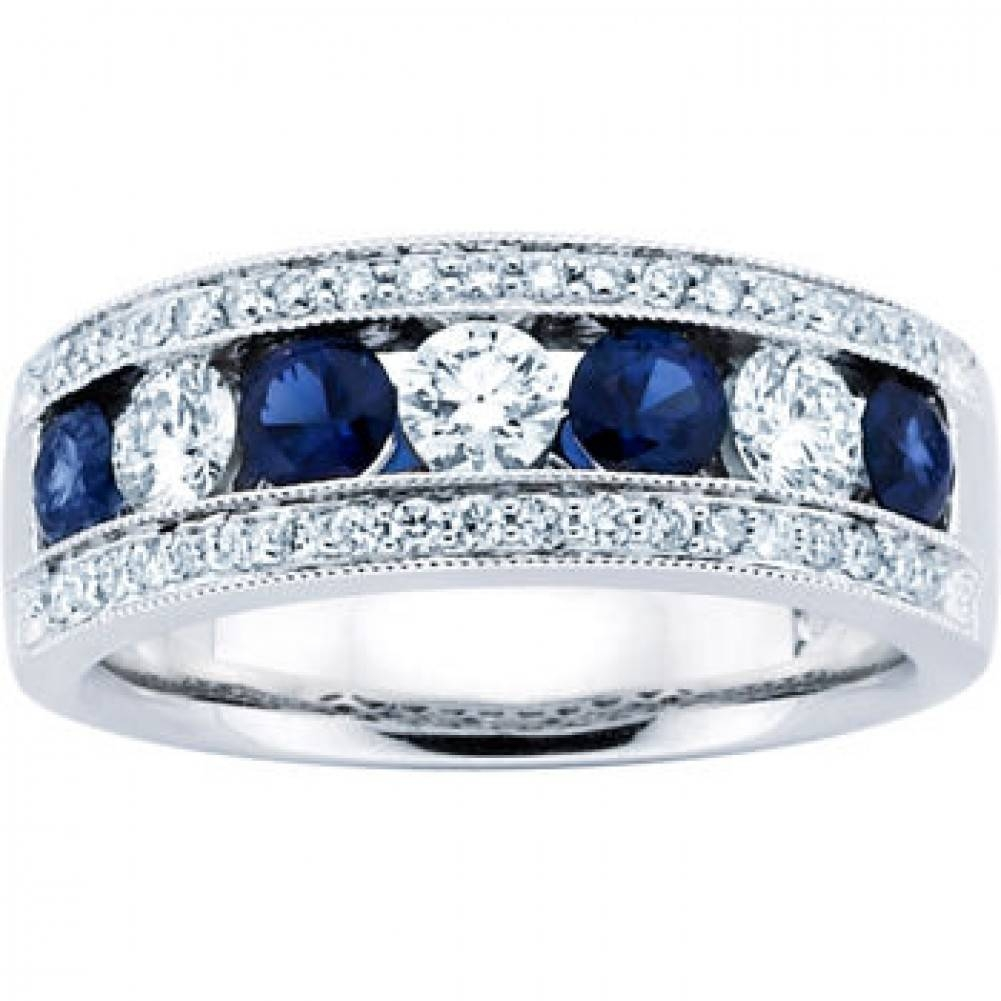 Blue Sapphire Wedding Bands (View 14 of 15)