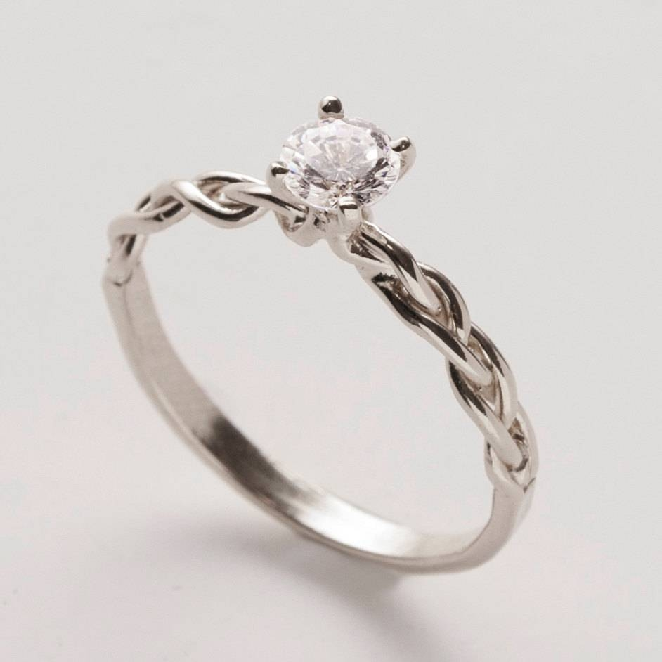 Braided Engagement Ring – 14K White Gold And  | Ringscollection With Regard To Diamond Braided Engagement Rings (Gallery 8 of 15)