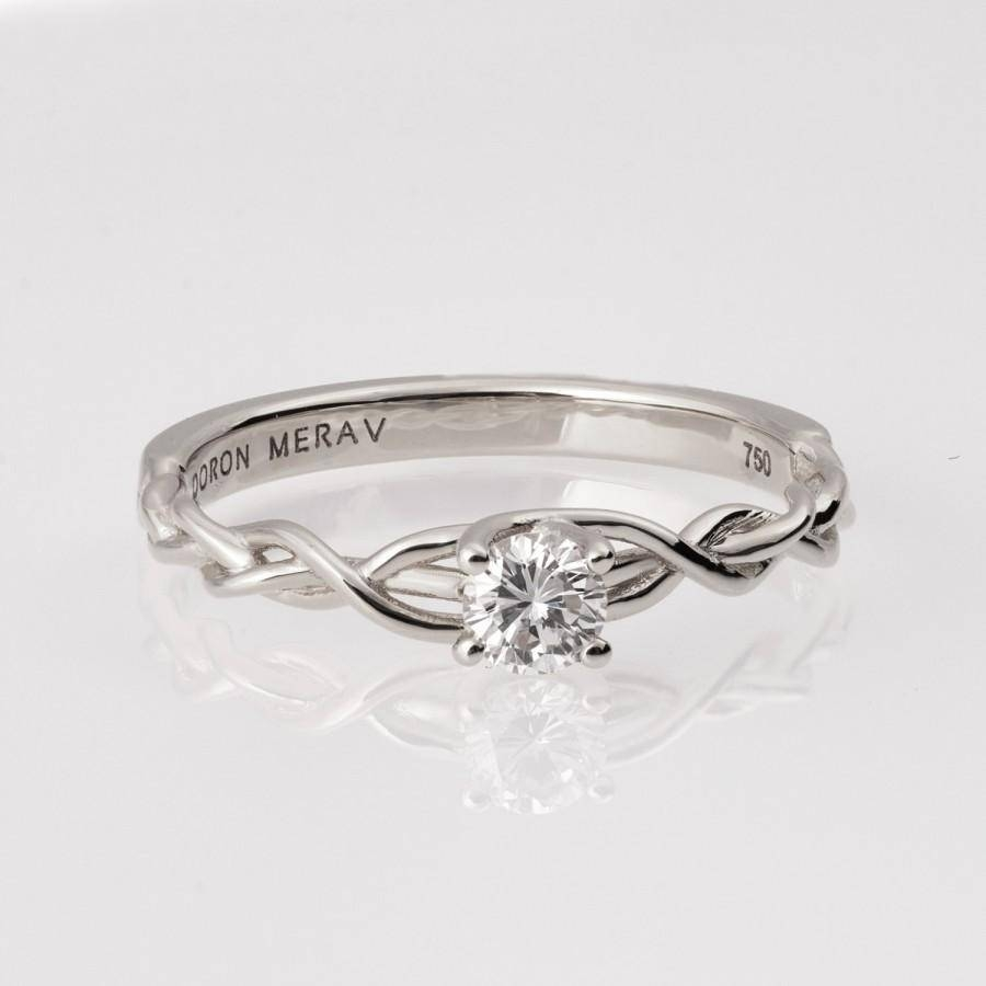 Braided Engagement Ring – White Gold And Diamond Engagement Ring Inside Diamond Braided Engagement Rings (View 5 of 15)