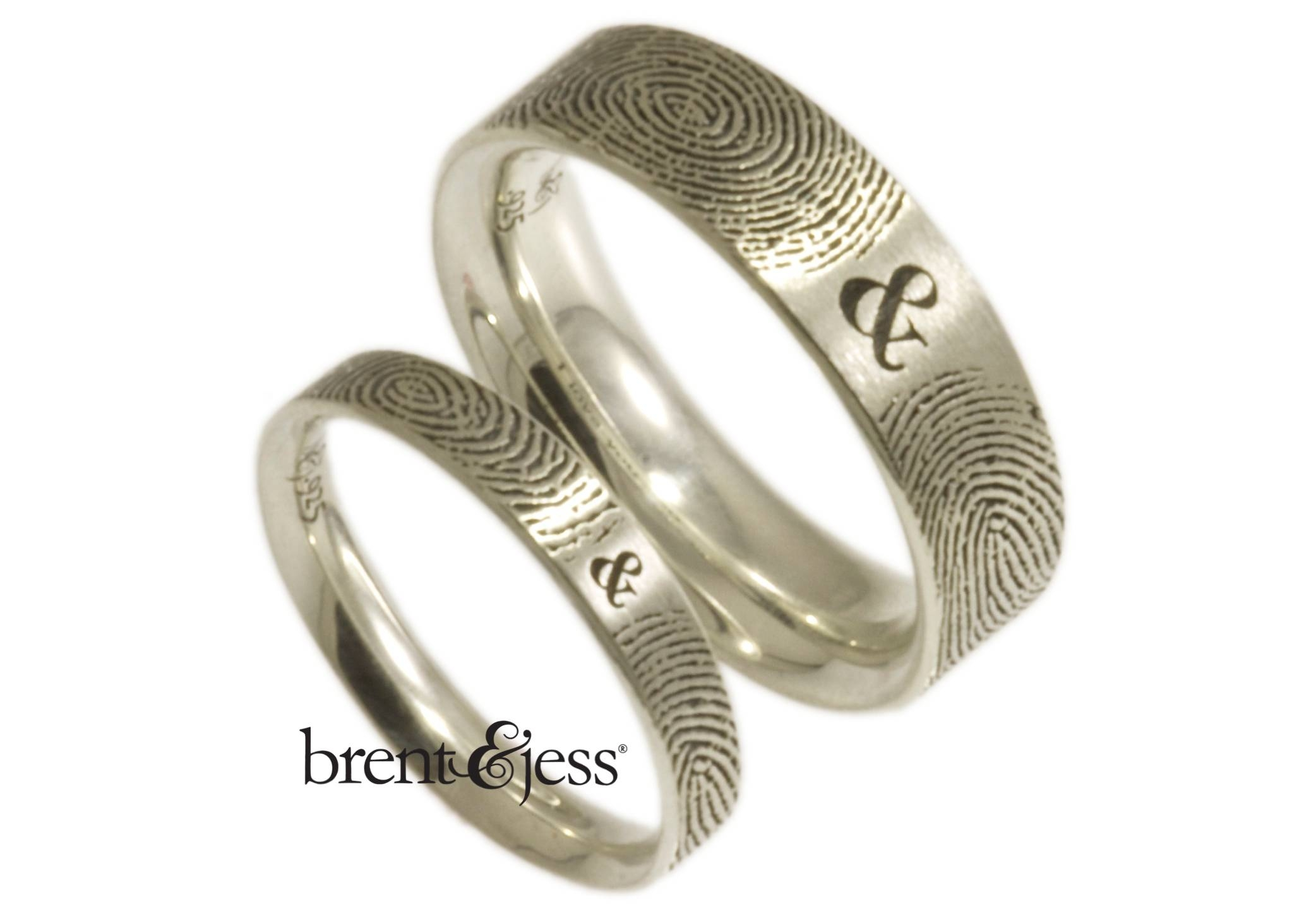 Brent&jess Fingerprint Wedding Rings · Ruffled With Fingerprint Wedding Rings (View 2 of 15)