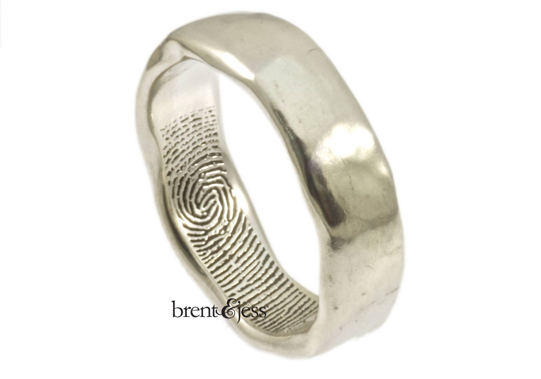 Brent&jess Fingerprint Wedding Rings · Ruffled Within Fingerprint Wedding Rings (View 3 of 15)