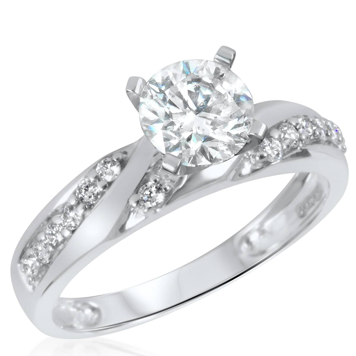 Bridal Sets: Bridal Sets Wedding Rings White Gold Size 9, Womens Regarding Wedding Bands Sets For Women (View 8 of 15)