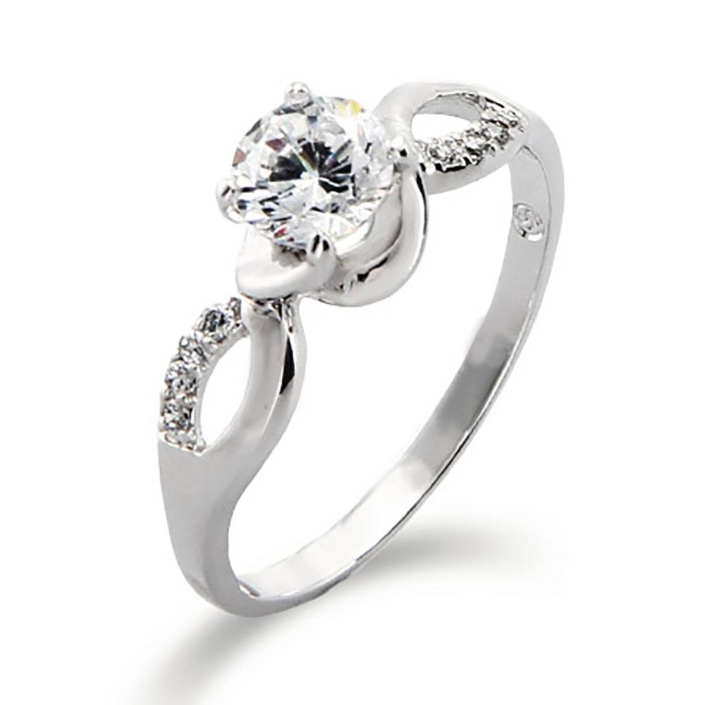 Brilliant Cut Cz Infinity Promise Ring Regarding Infinity Symbol Engagement Rings (View 7 of 15)