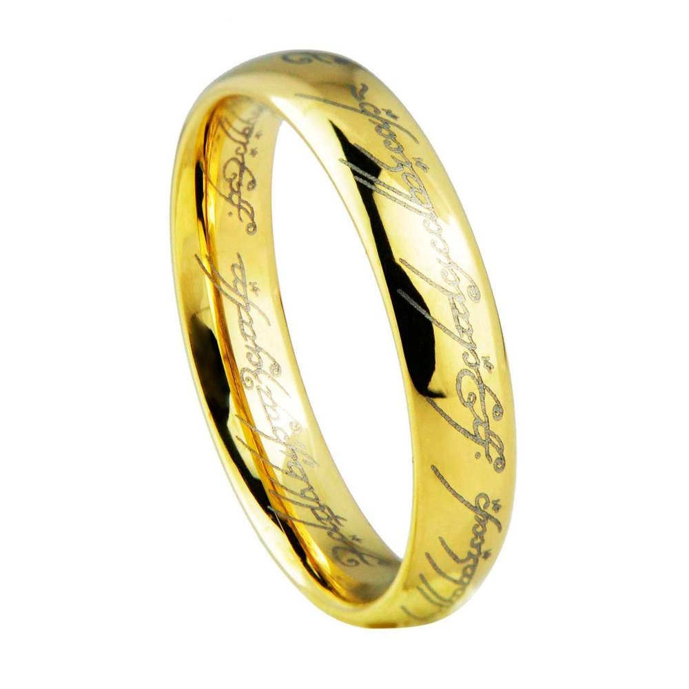 Brilliant Lord Of The Rings Wedding Band For Your Wedding In Lord Of The Rings Wedding Bands (View 13 of 15)