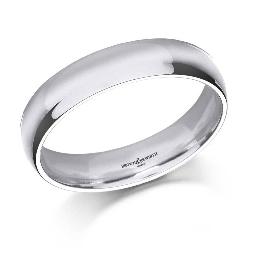 Brown & Newirth 6Mm Medium Court Men's Palladium Wedding Ring Regarding Mens Palladium Wedding Rings (View 2 of 15)