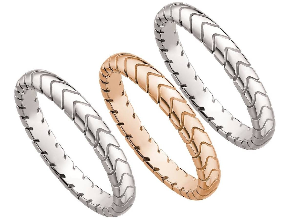 Bulgari Spiga Band Collection – Bagaholicboy Pertaining To Bvlgari Men Wedding Bands (View 5 of 15)