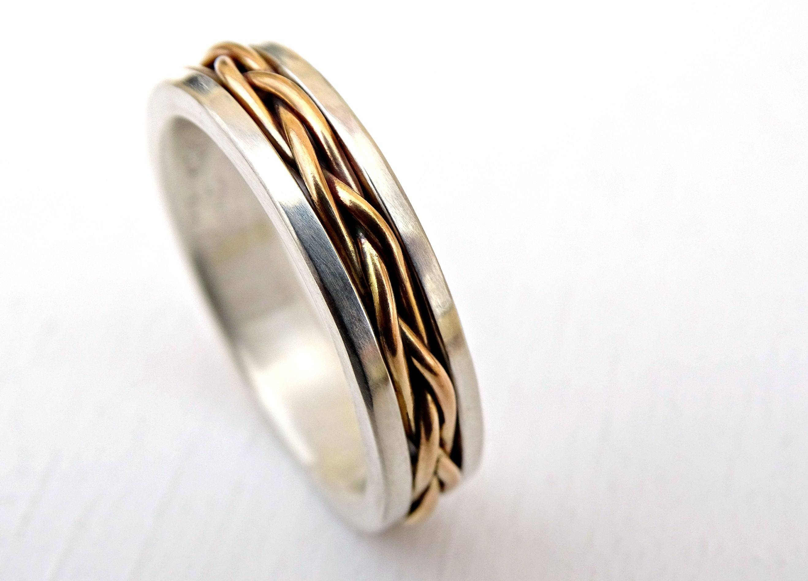 Buy A Custom Made Celtic Wedding Band Men, Gold Braided Wedding With Celtic Engagement Rings For Men (View 4 of 15)
