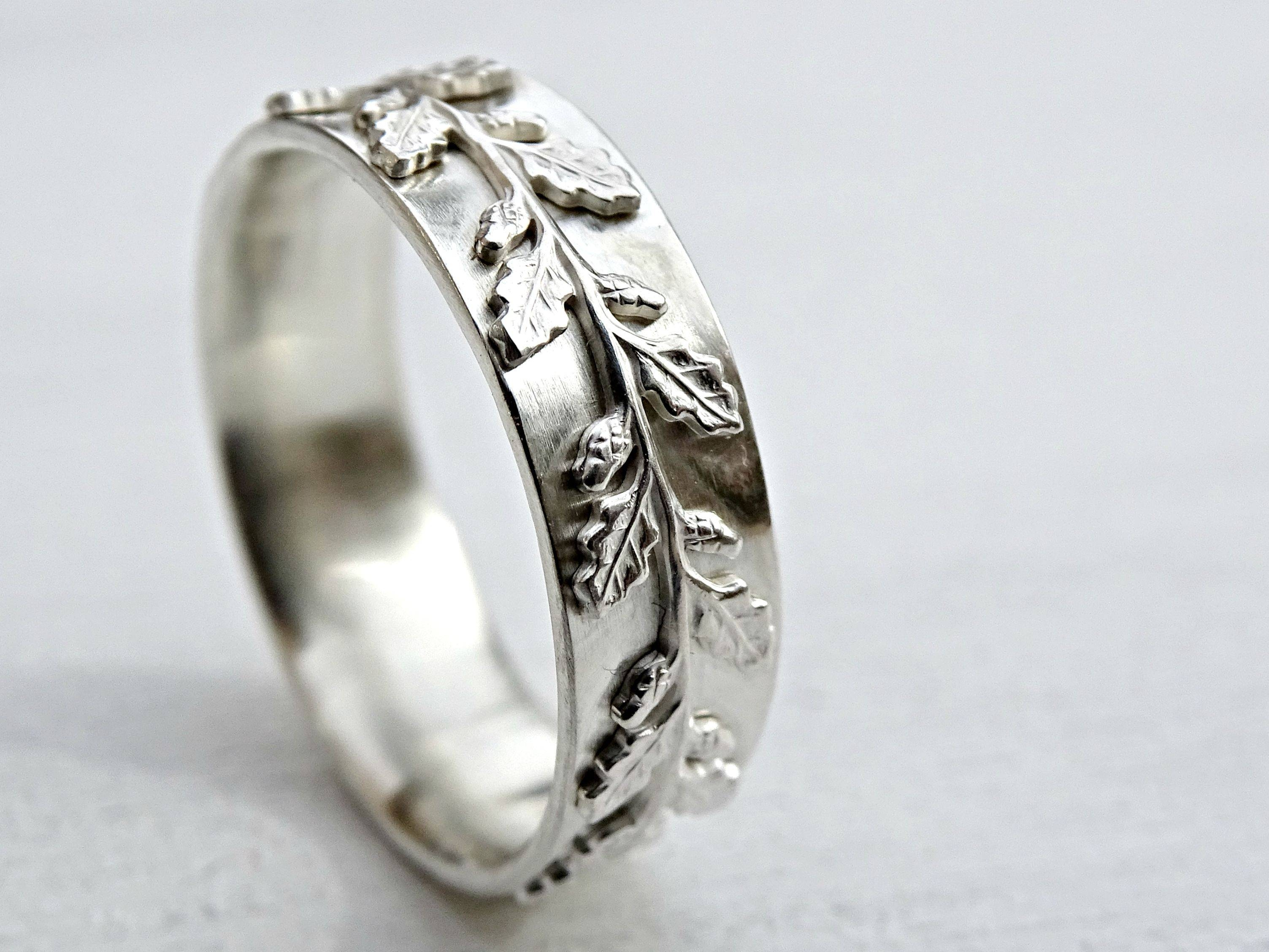buy a custom made medieval wedding ring silver fairy tale wedding with pagan engagement rings - Pagan Wedding Rings