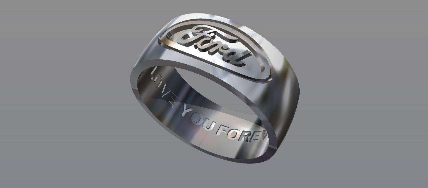 Buy A Hand Crafted Ford Ring Custom Wedding Band, Made To Order In Outdoorsman Wedding Bands (View 3 of 15)