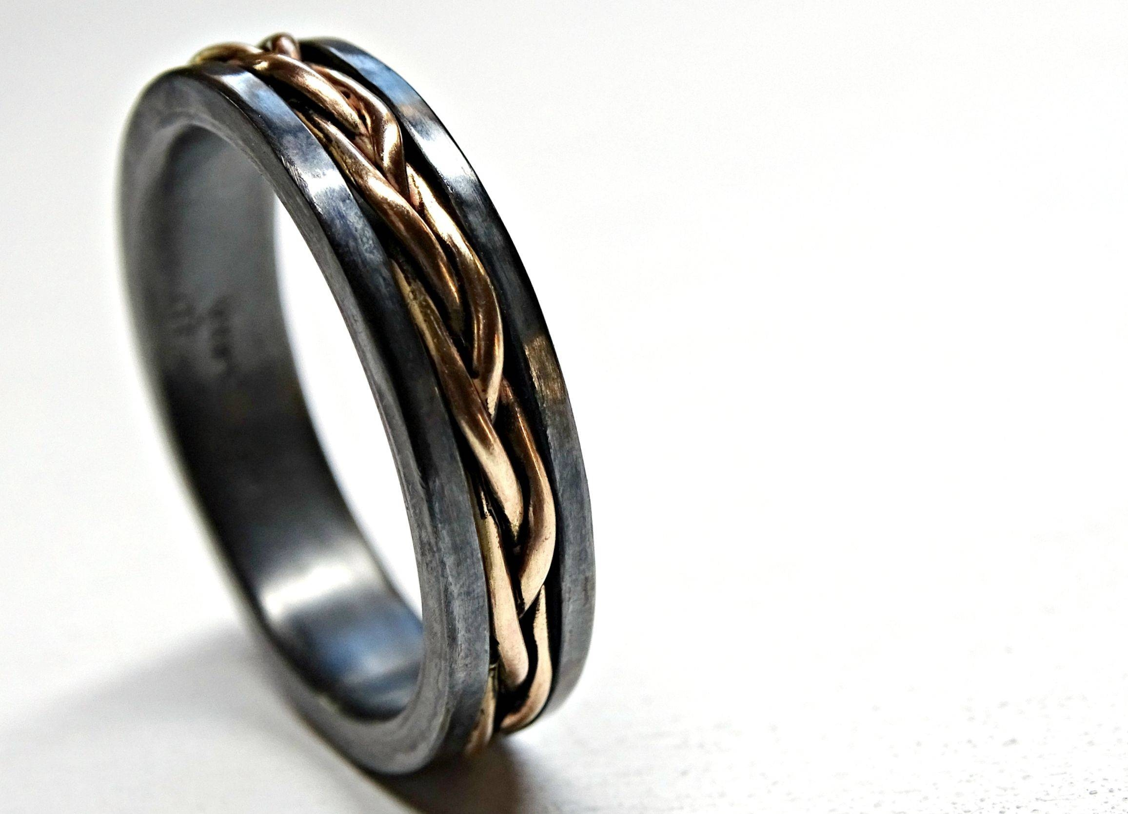 Buy A Hand Crafted Mens Viking Wedding Band, Celtic Promise Ring Within Viking Engagement Rings (Gallery 14 of 15)