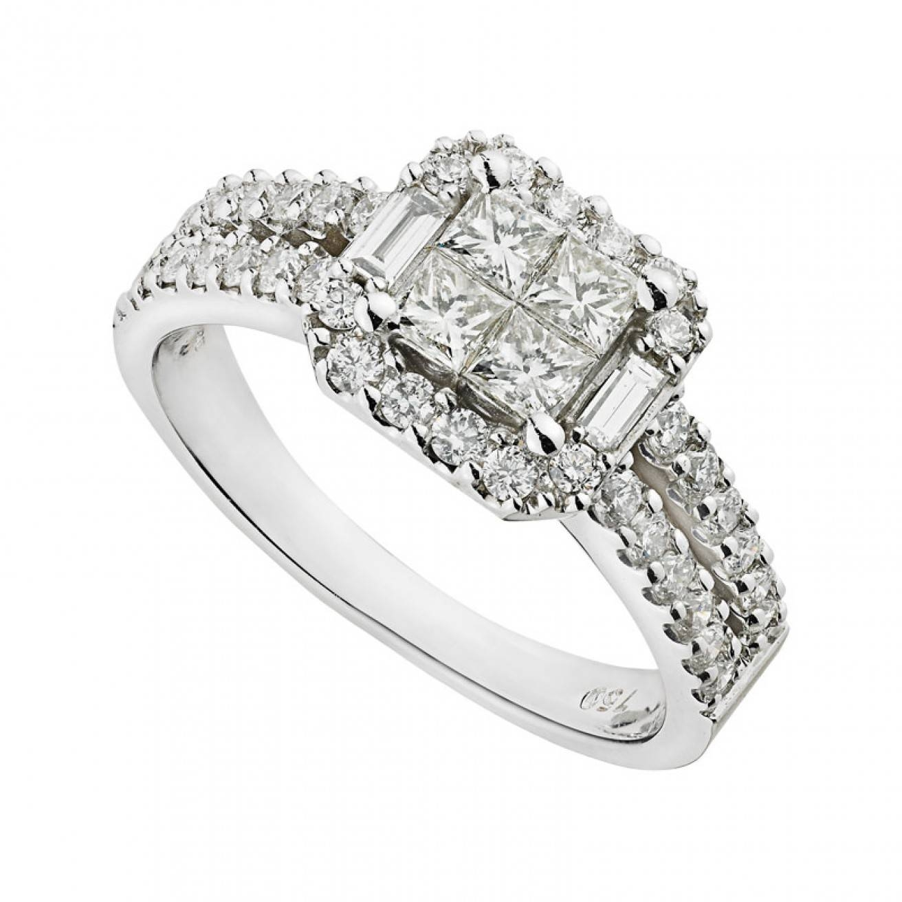 Buy A White Gold Engagement Ring Fraser Hart With Regard To And