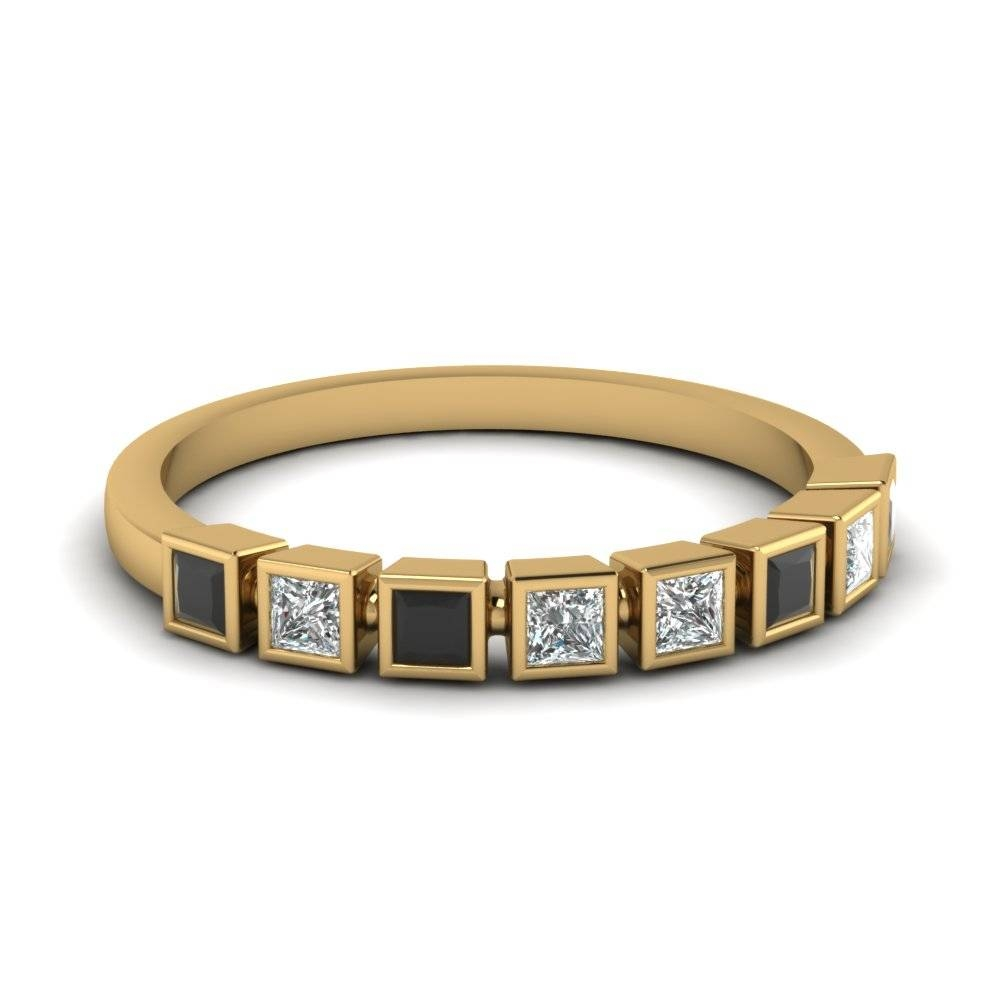 Buy Beautiful Princess Cut Womens Wedding Bands Online Throughout Black Diamond Wedding Bands For Women (View 4 of 15)
