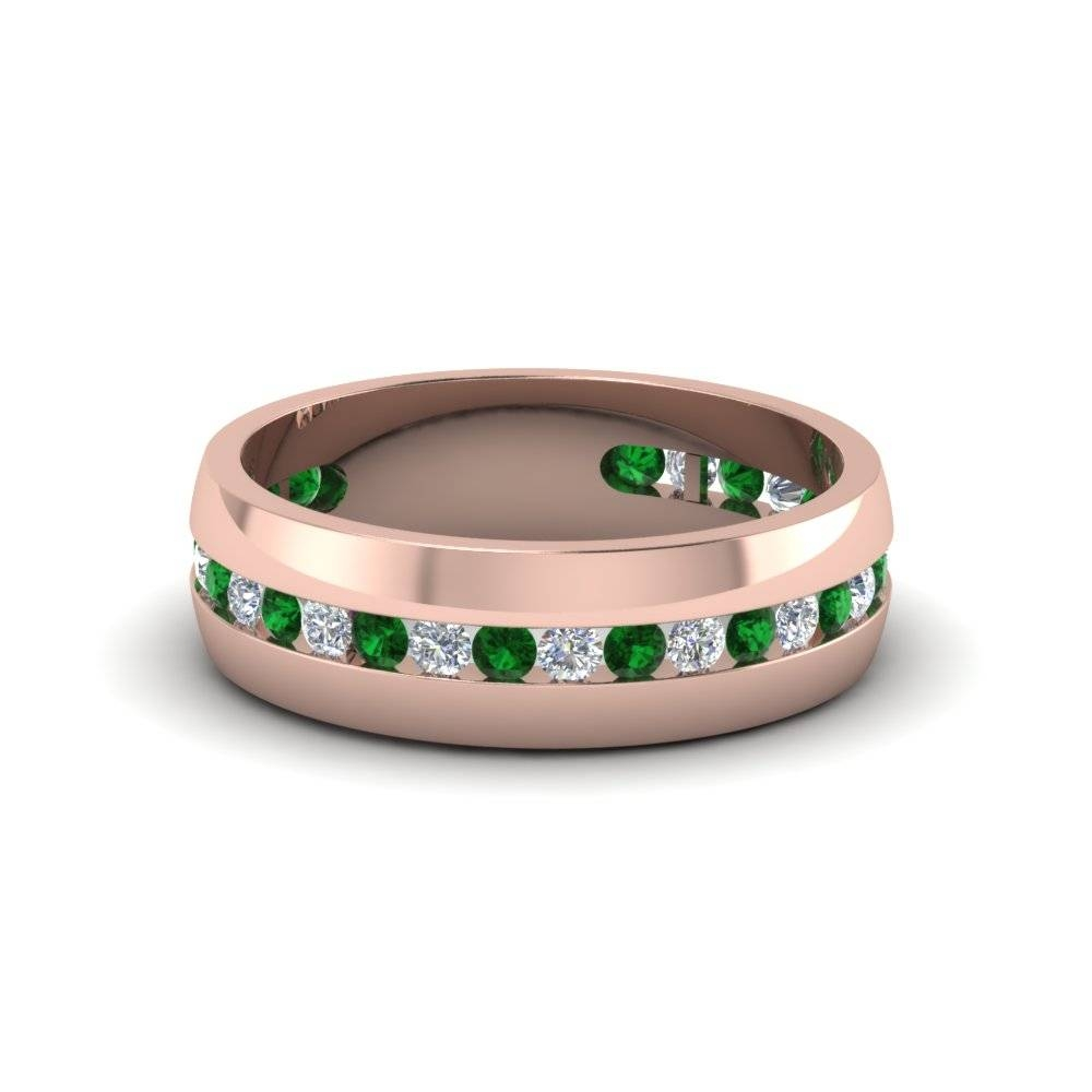 Buy Classy Emerald Mens Wedding Rings | Fascinating Diamonds In Men's Wedding Bands Emerald (View 5 of 15)