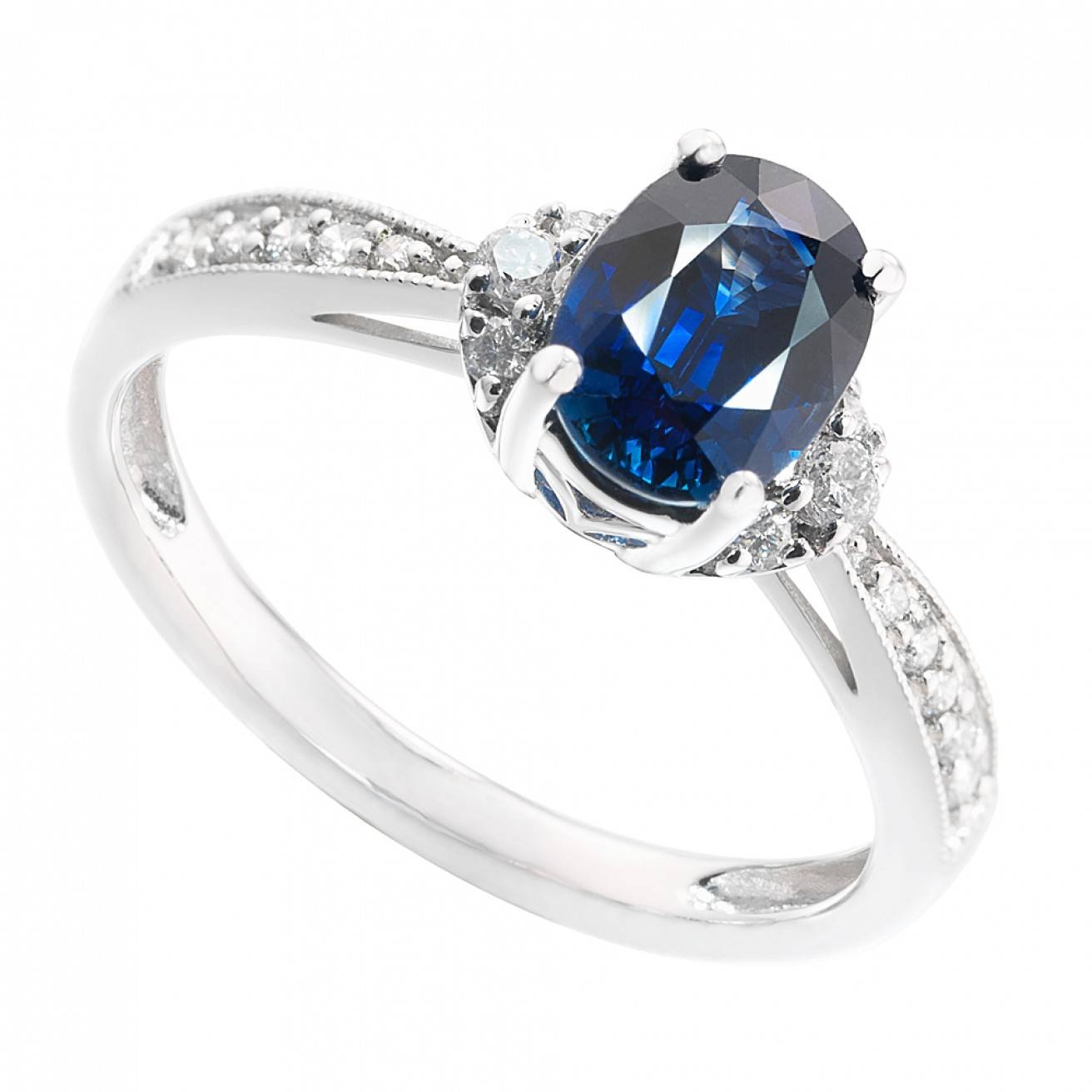 Buy Engagement Rings Online – Platinum, White Gold & More – Fraser With Wedding Rings With Sapphire And Diamonds (View 6 of 15)