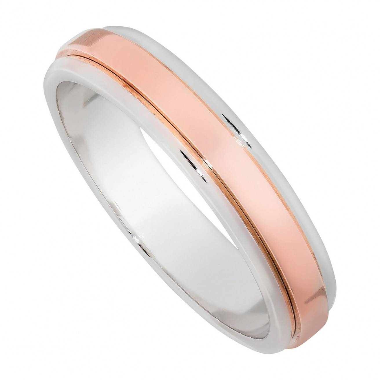 Buy Rose Gold Wedding Rings Online – Fraser Hart With Rose And White Gold Wedding Rings (View 3 of 15)