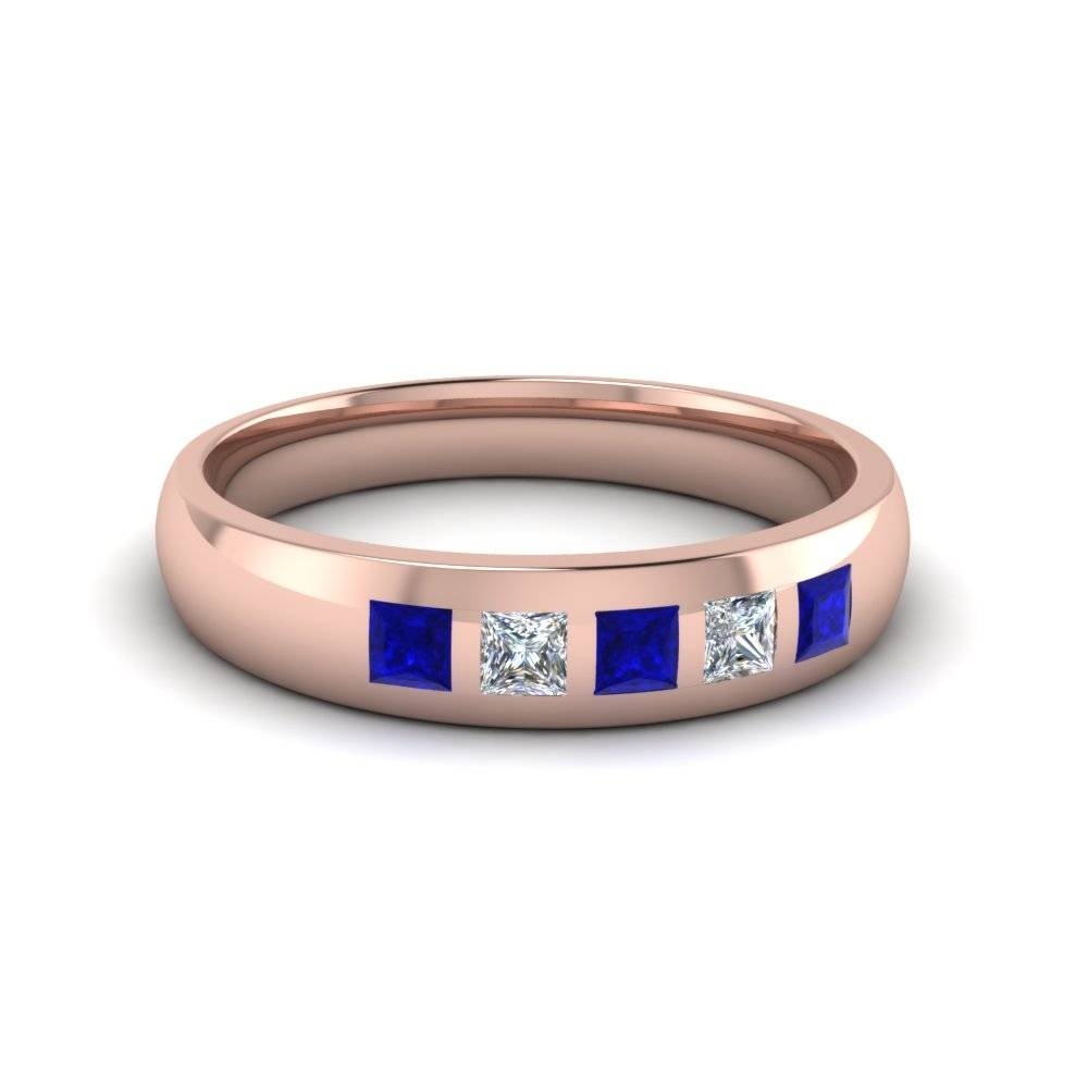 Buy Sapphire Mens Wedding Bands | Fascinating Diamonds Within Blue Sapphire Men's Wedding Bands (View 8 of 15)