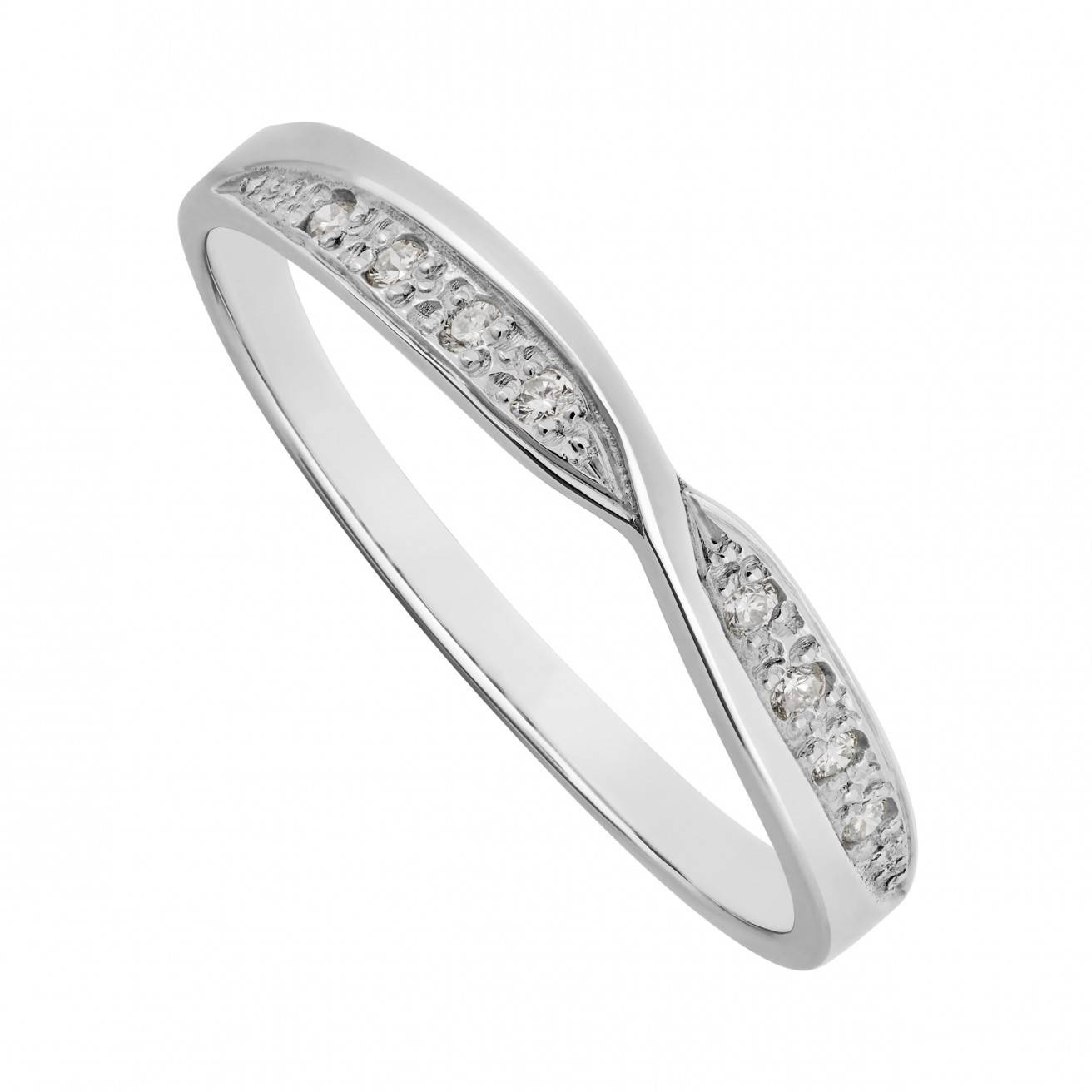 Buy White Gold Wedding Rings Online – Fraser Hart Intended For Twisted Diamond Wedding Bands (View 10 of 15)