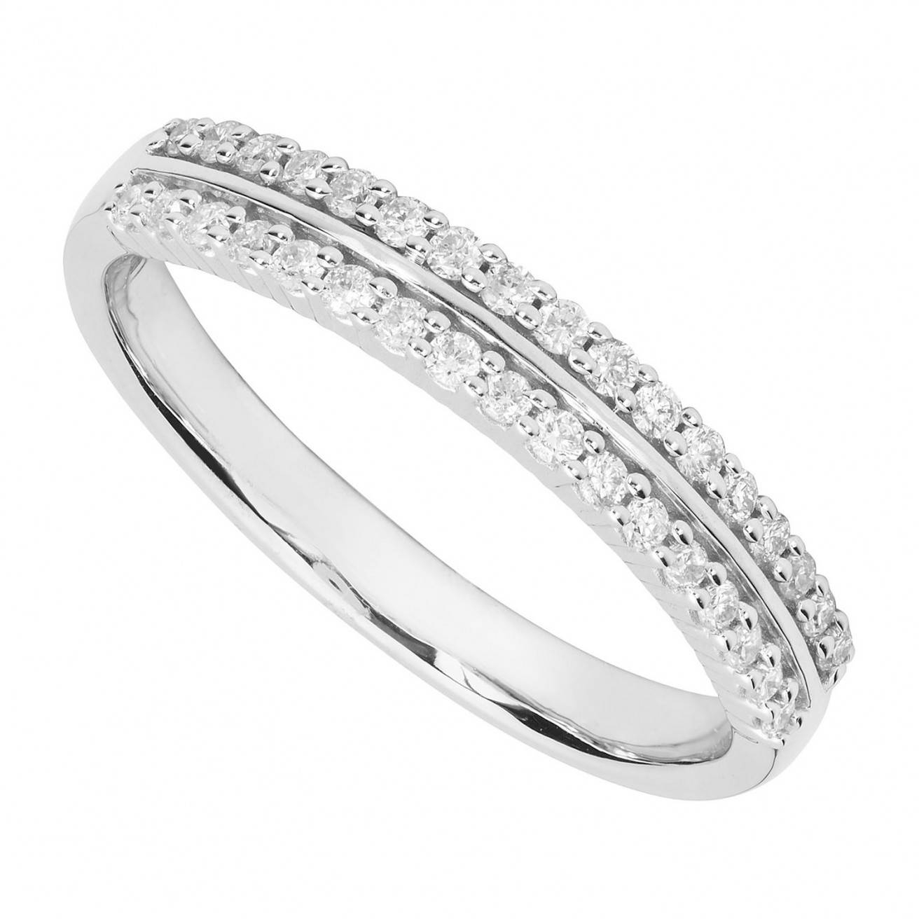 Buy White Gold Wedding Rings Online – Fraser Hart Regarding Twisted Diamond Wedding Bands (View 12 of 15)