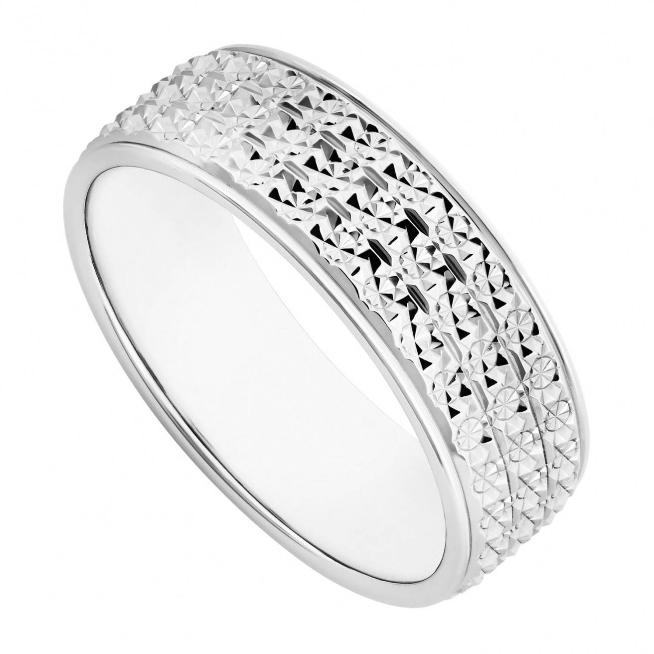Buy White Gold Wedding Rings Online – Fraser Hart With Regard To White Gold Diamond Cut Wedding Rings (View 7 of 15)