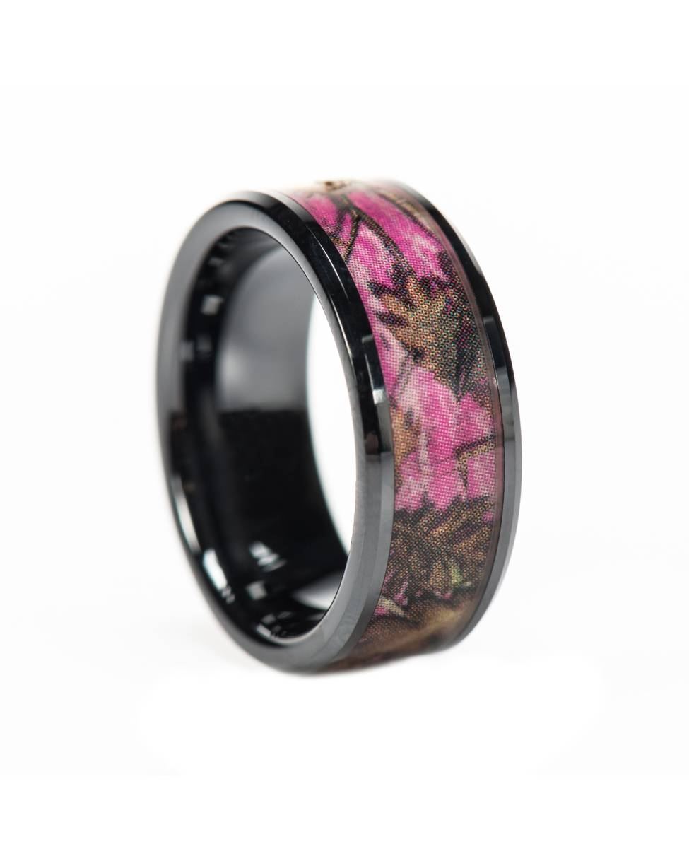 Camo Wedding Rings: Unique Wedding Ring Inspiration | Wedding Ideas In Camo Wedding Bands For Her (View 5 of 15)