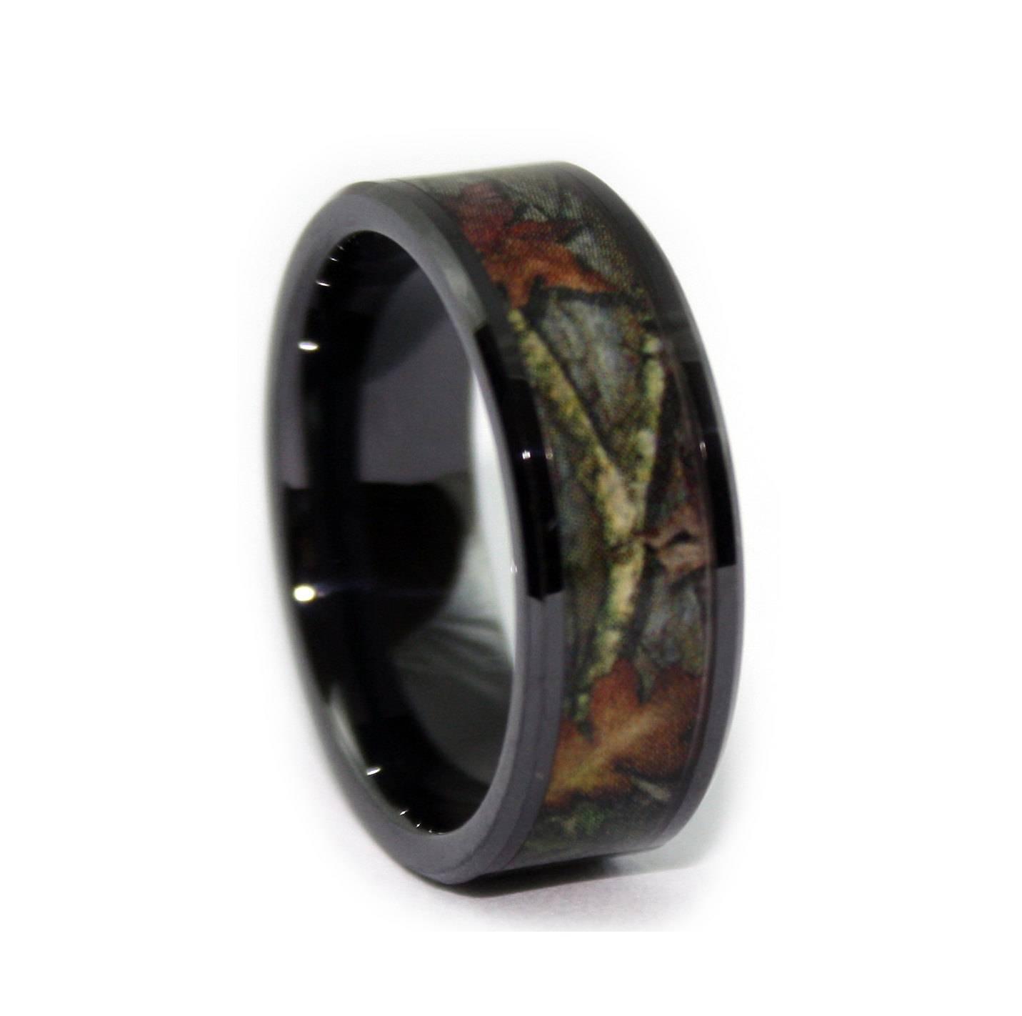 Camo Wedding Ringsone Flat Titanium Mens For Tungsten Bands View