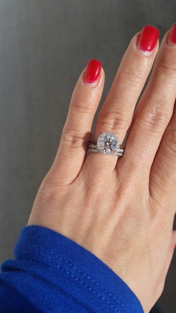 Can I See Your 1.5 2mm Pave Bands? – Weddingbee With (View 8 of 15)
