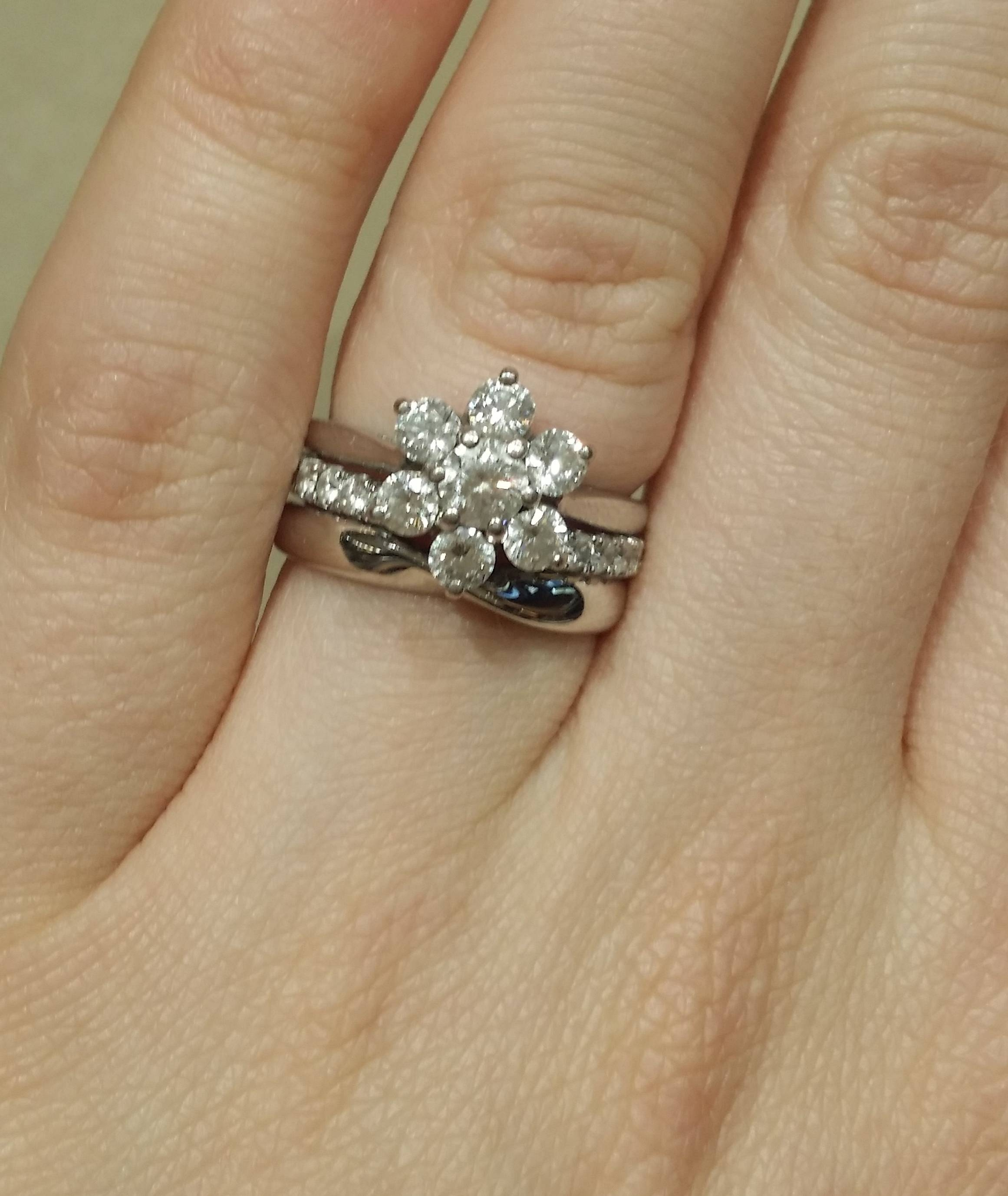 Can I See Your Ribbon/twisted Wedding Bands? – Weddingbee Intended For Wedding Bands For Twisted Engagement Rings (View 3 of 15)