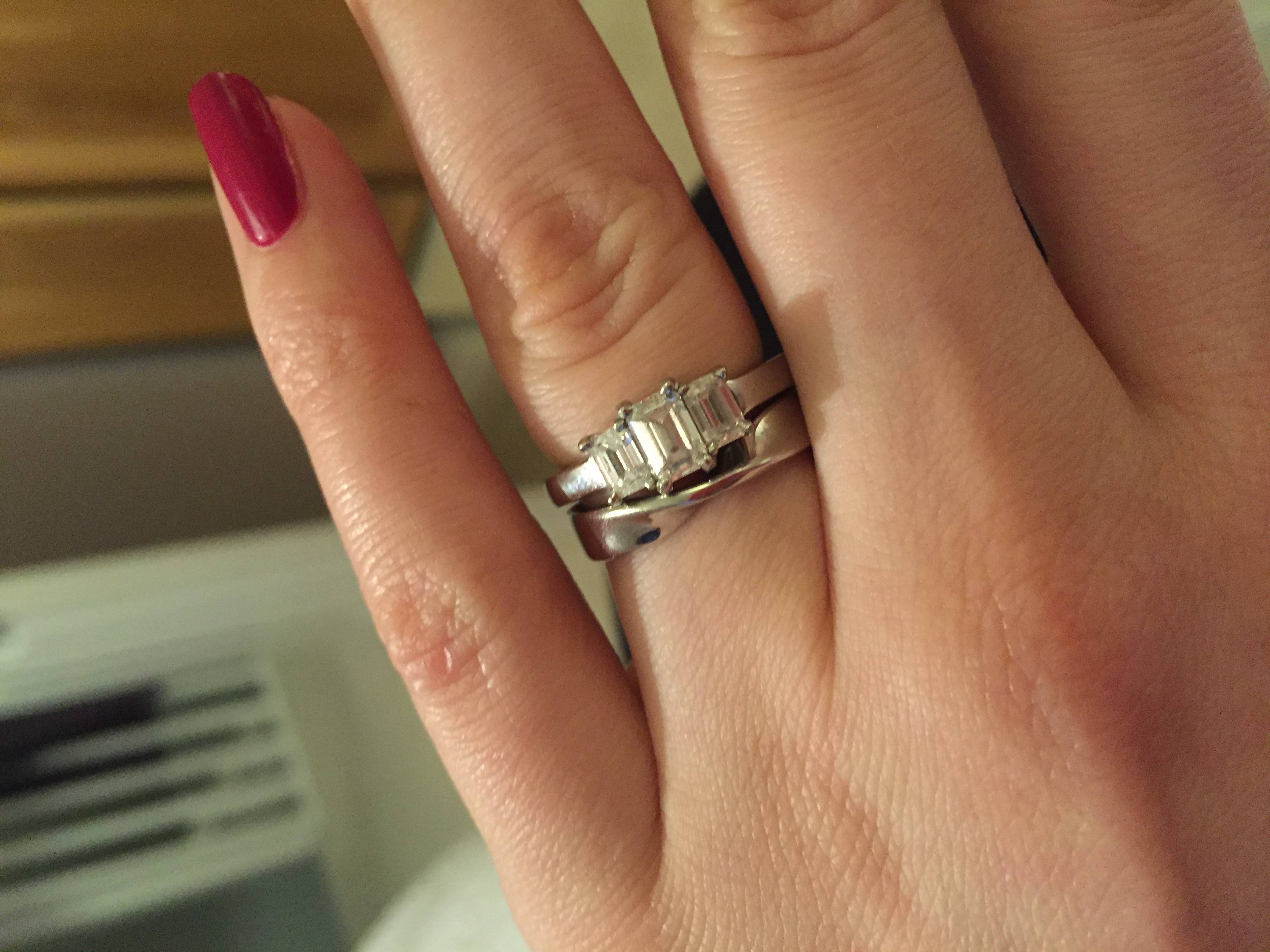Can I See Your Ribbon/twisted Wedding Bands? – Weddingbee Pertaining To Twisted Wedding Bands (View 9 of 15)