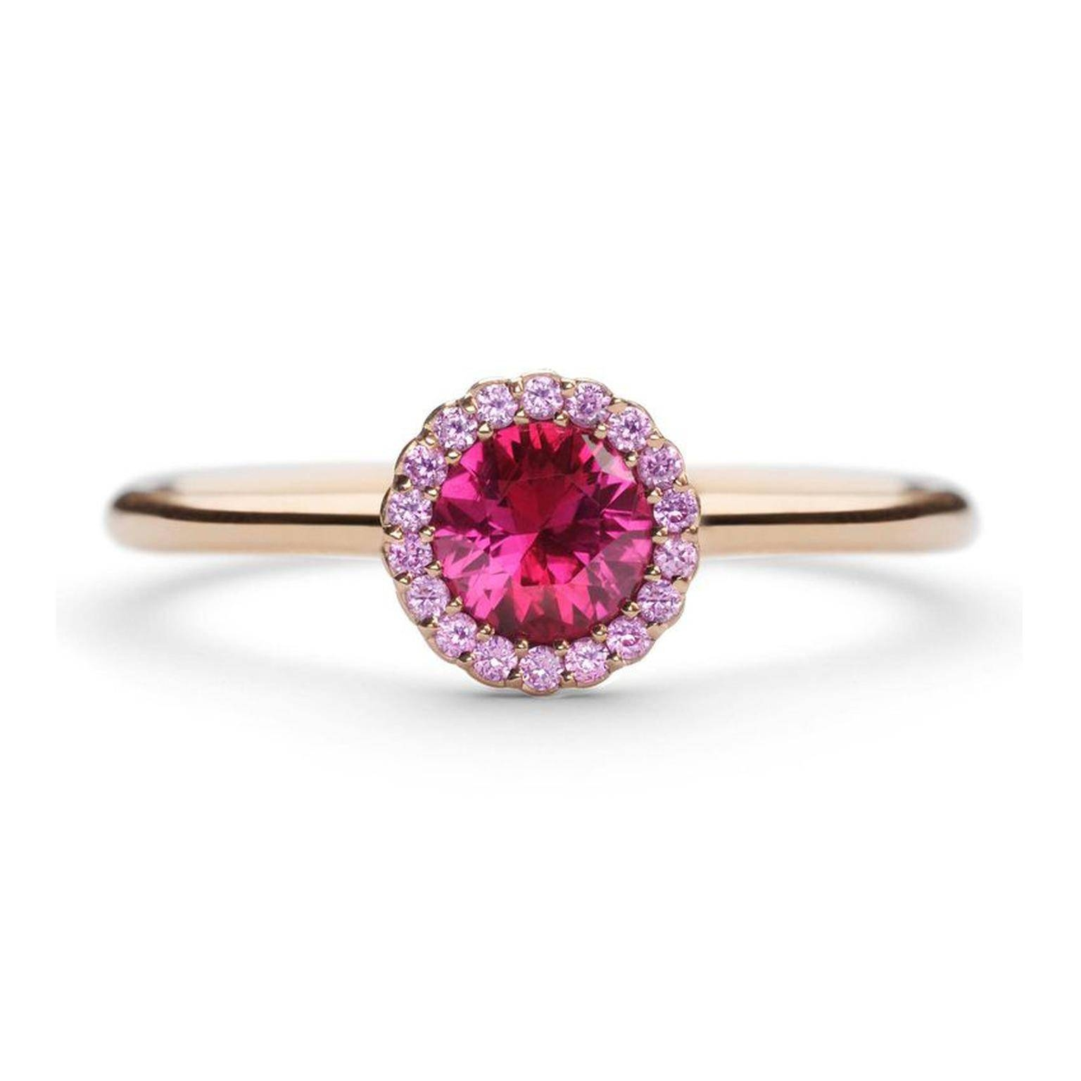Cannelé Ruby And Pink Sapphire Engagement Ring | Andrew Geoghegan With Pink Sapphire Engagement Rings (Gallery 9 of 15)