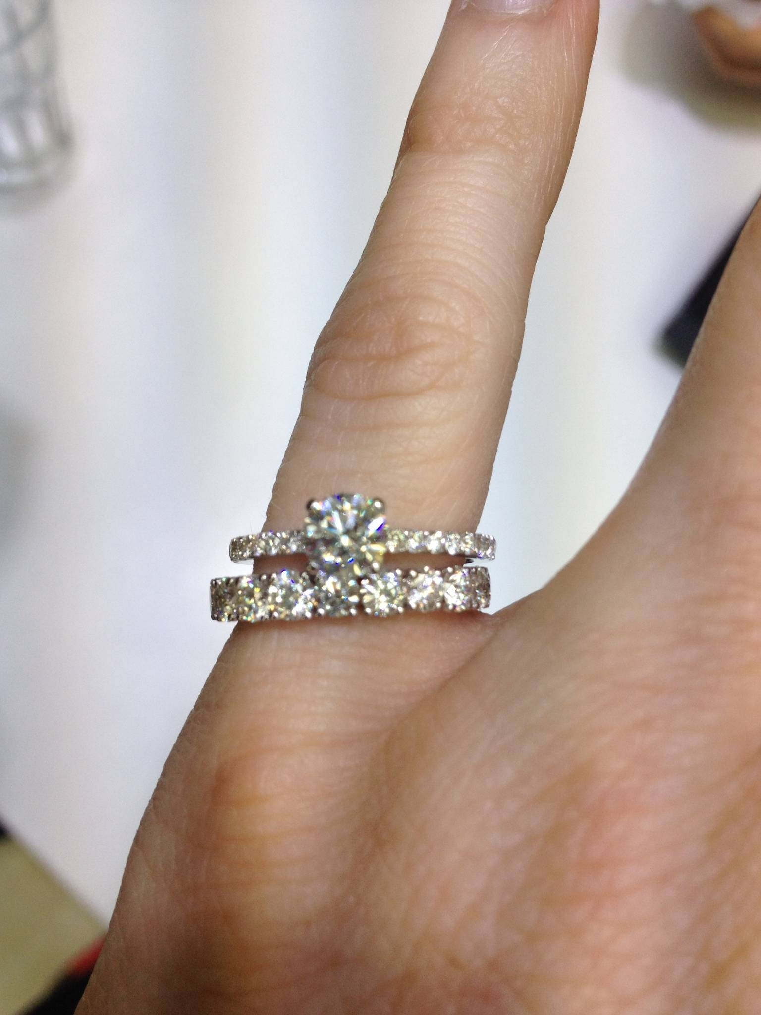 Cant Decide On Wedding Band! Show Me Thin Pave Erings With Inside Thin Wedding Bands With Diamonds (View 3 of 15)