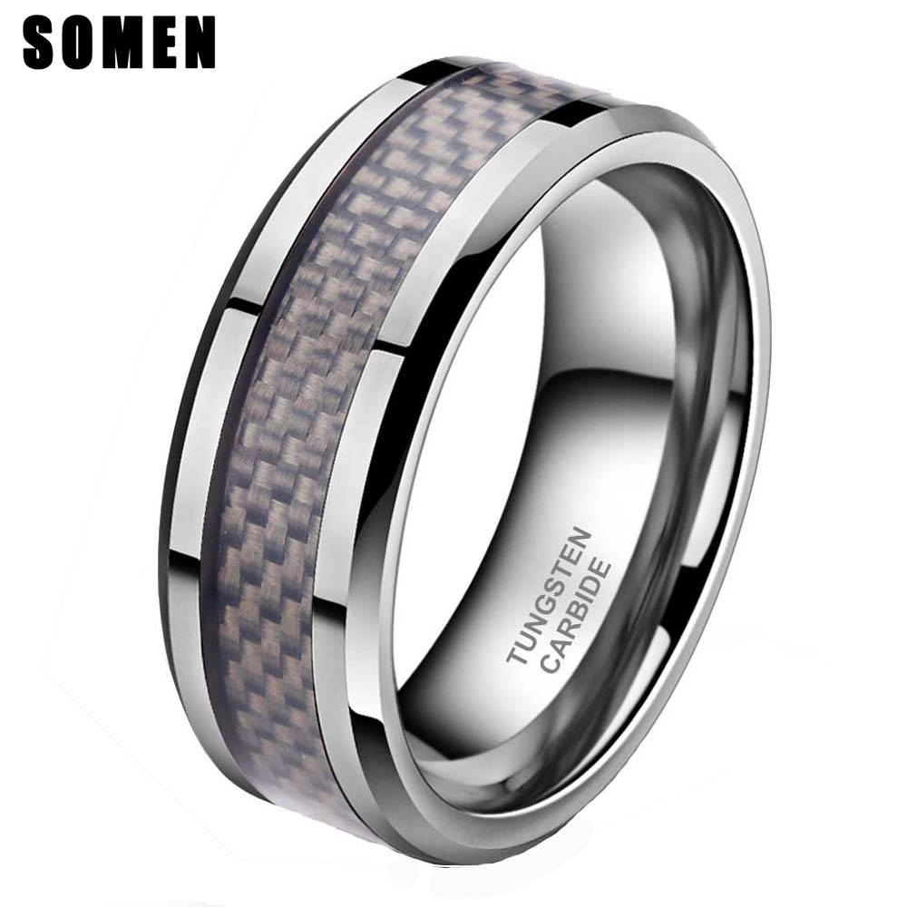 Carbon Fiber Mens Wedding Rings Promotion Shop For Promotional Pertaining To Mens Carbon Fiber Wedding Rings (View 5 of 15)