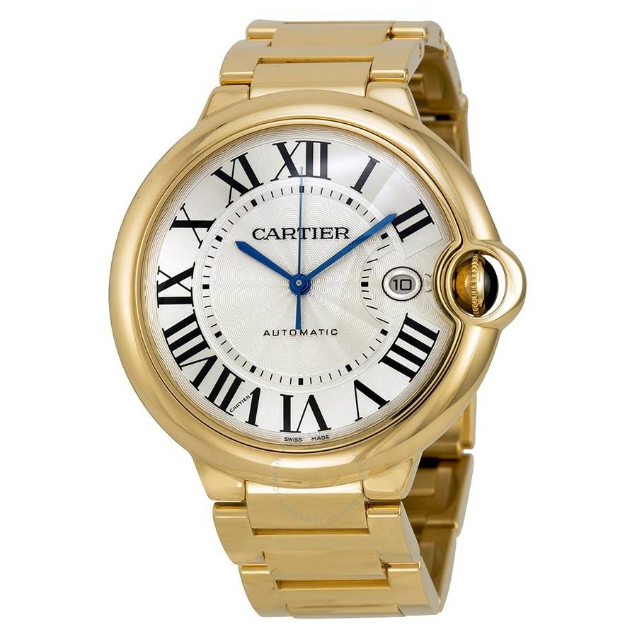 Cartier Ballon Bleu Large 18K Yellow Gold Men's Watch W69005Z2 Intended For Cartier Men Wedding Bands (View 1 of 15)