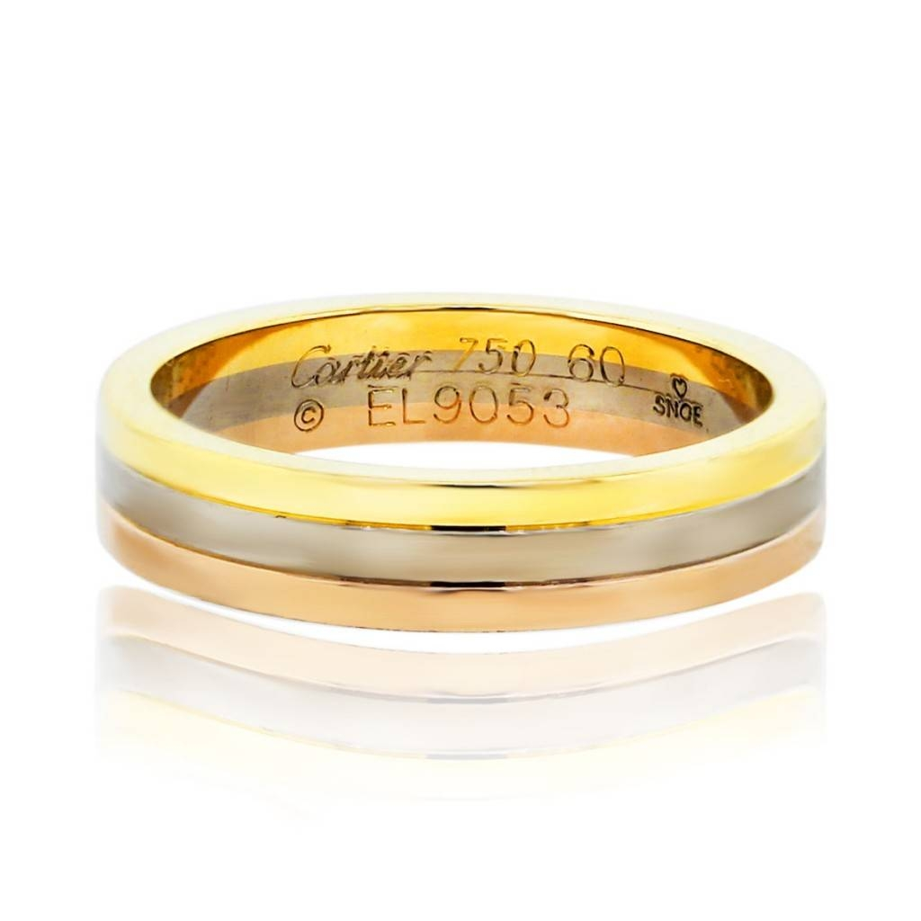 Cartier Tri Color Mens Wedding Band Ring – Boca Raton Regarding Mens Engagement Rings Cartier (View 12 of 15)