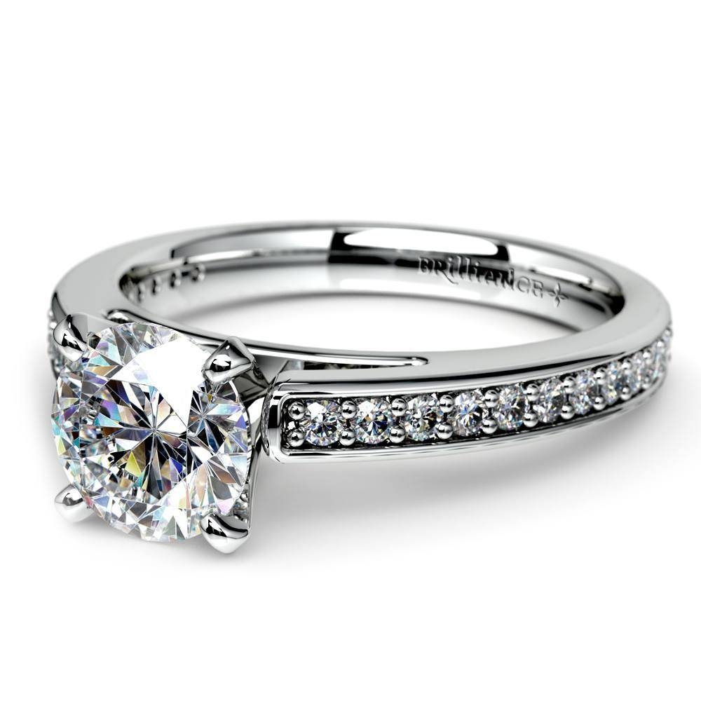 Cathedral Diamond Preset Engagement Ring In White Gold (3/4 Ctw) For Preset Engagement Rings (Gallery 7 of 15)