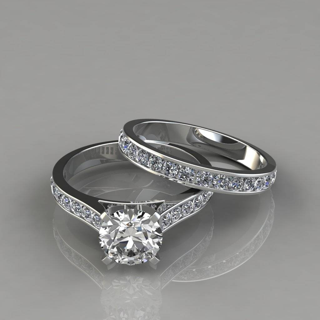 Cathedral Engagement Ring And Wedding Band Set – Puregemsjewels In Engagement Rings With Wedding Band Set (View 3 of 15)