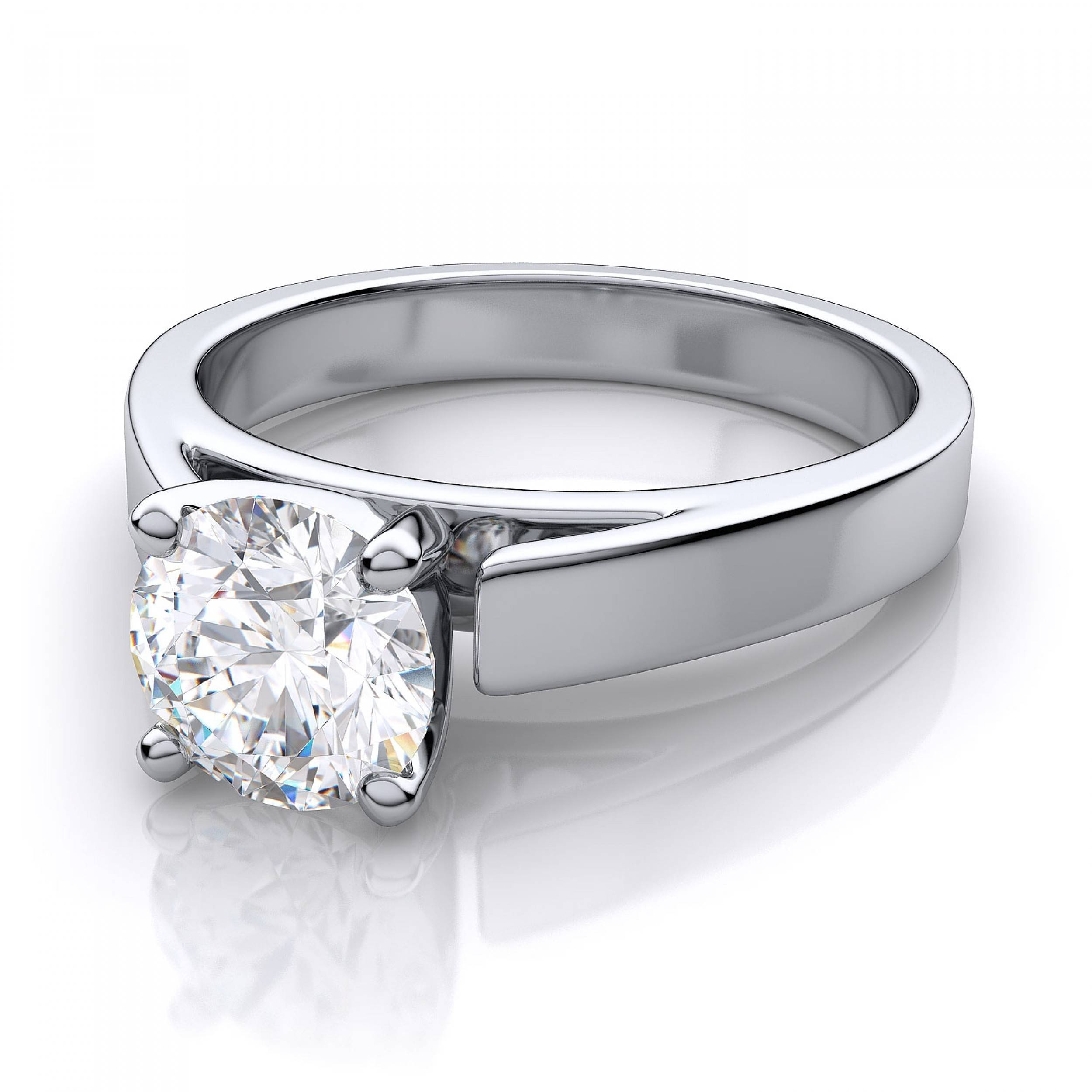 Cathedral Solitaire Engagement Ring – Platinum With Platinum Wedding Rings Settings (View 6 of 15)
