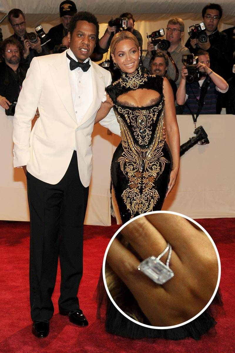 Celebrity Engagement Rings | Cubic Zirconia Engagement Rings With Regard To Beyonce's Wedding Rings (View 6 of 15)