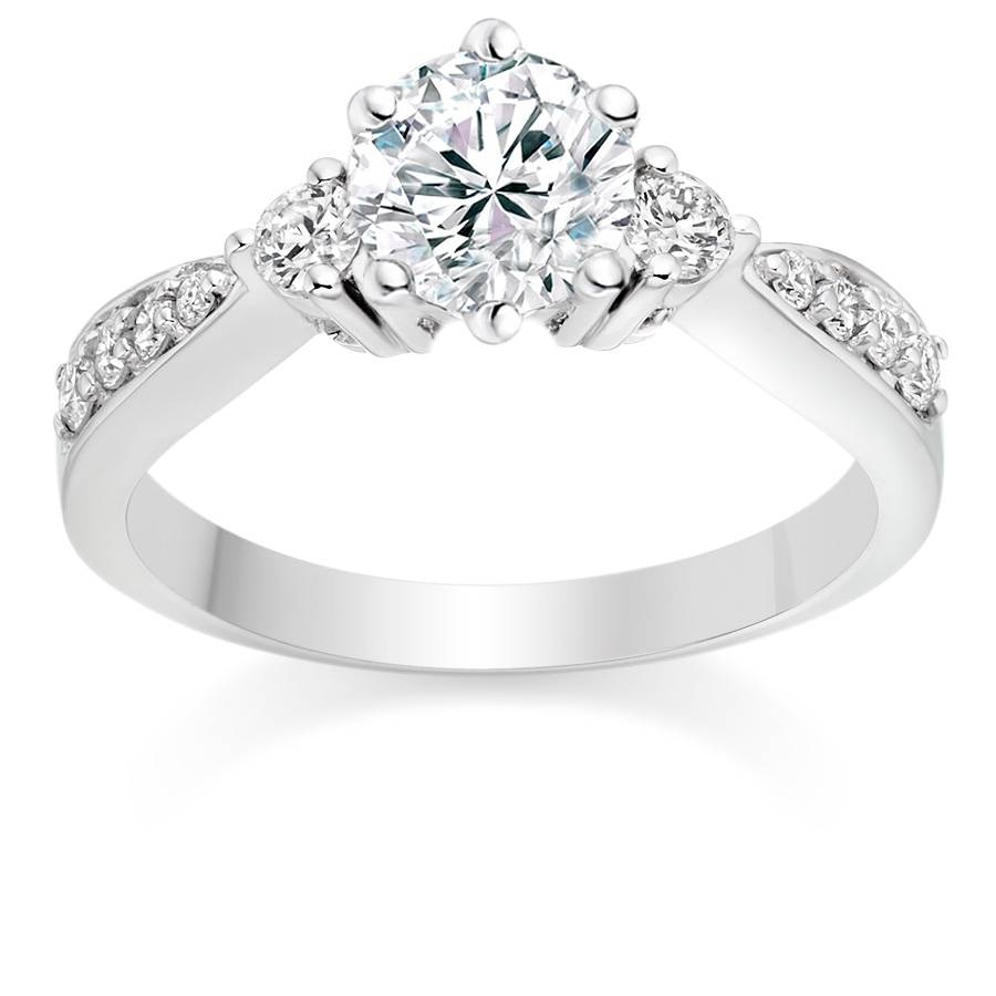 Celebrity Engagement Rings – Vashi Within Engagement Rings Trilogy (Gallery 3 of 15)