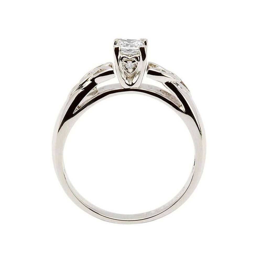 Celtic Engagement Ring , Shanore Princess Cut Solitarie Diamond Ring Pertaining To Celtic Diamond Engagement Rings (View 11 of 15)