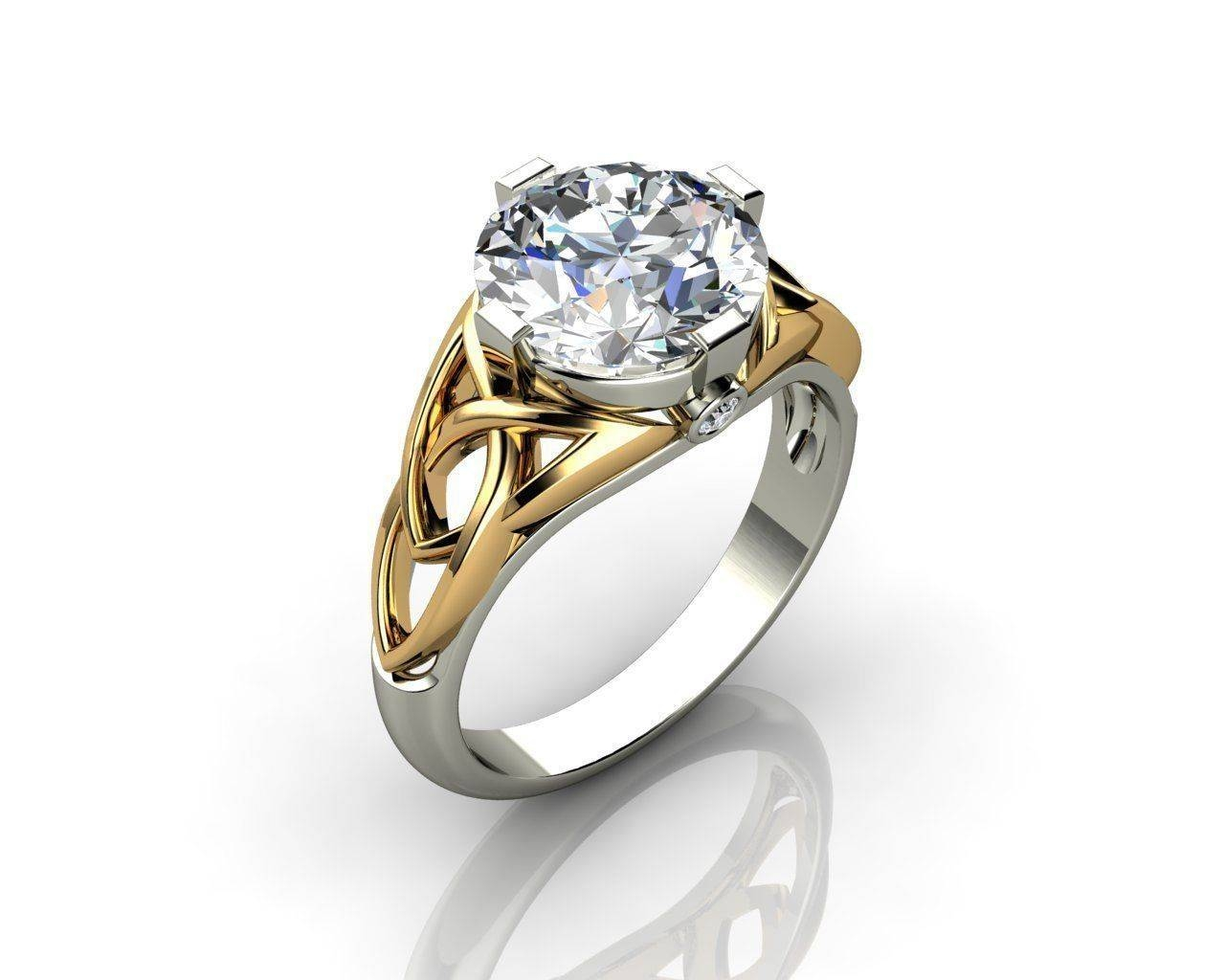 Celtic Engagement Rings 3D Print Model | Cgtrader Regarding Celtic Engagement Rings (Gallery 8 of 15)