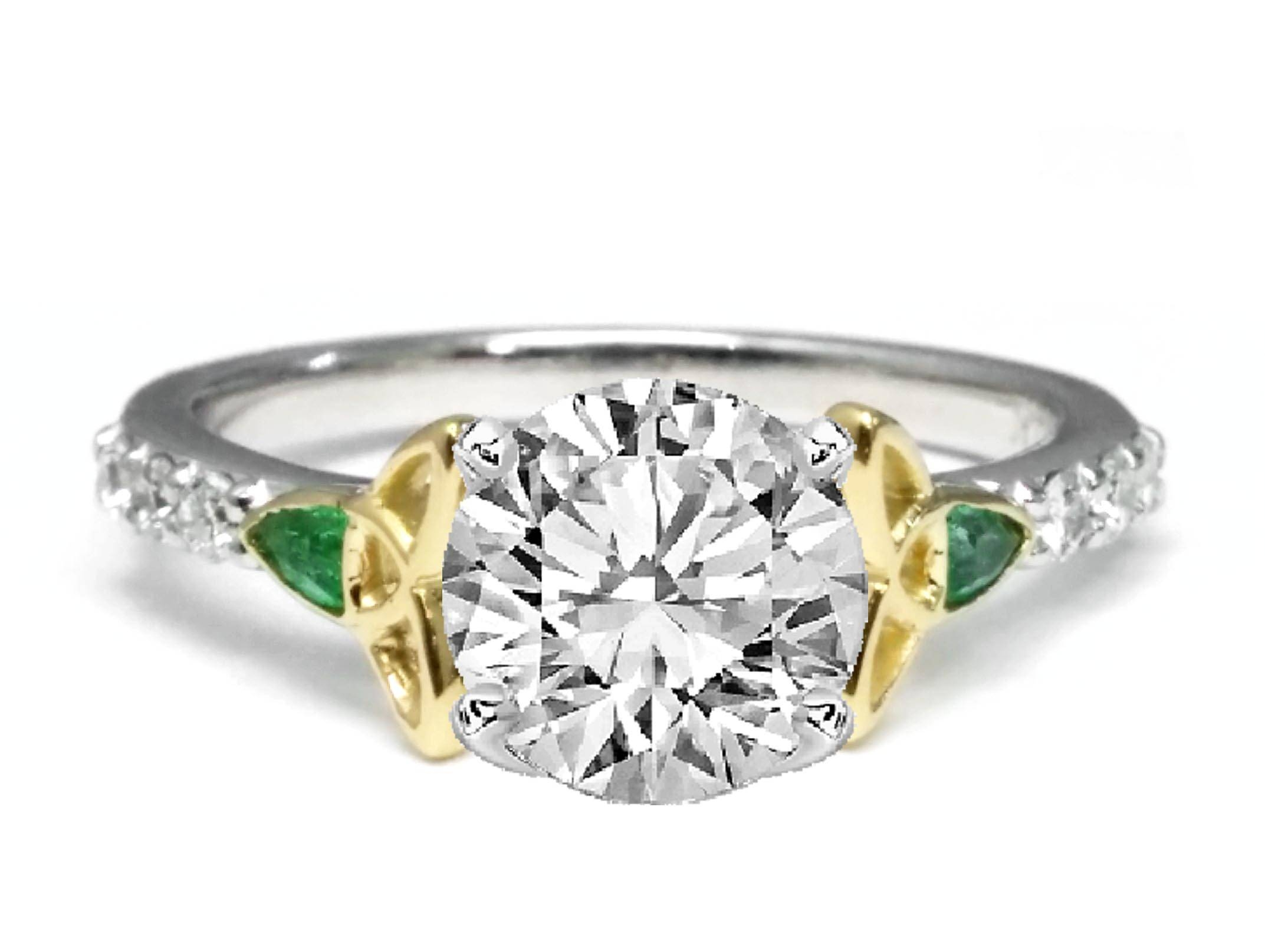 Celtic – Engagement Rings From Mdc Diamonds Nyc Inside Irish Emerald Engagement Rings (Gallery 5 of 15)