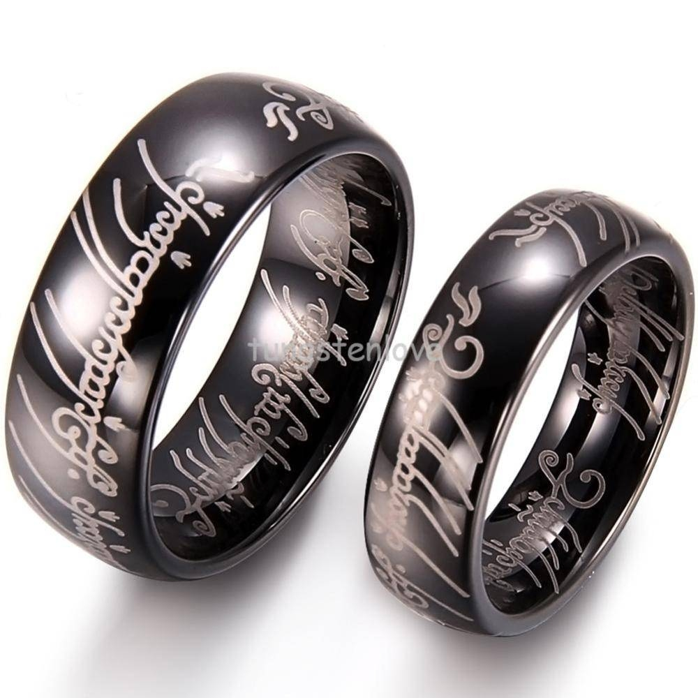 Photo Gallery of Titanium Lord Of The Rings Wedding Bands Viewing 2