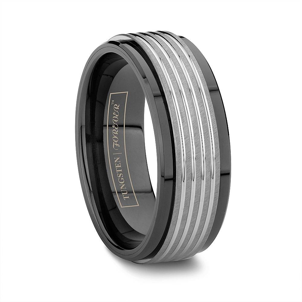 Ceramic Wedding Bands: Tungsten Intended For Scratch Resistant Wedding Bands (View 4 of 15)