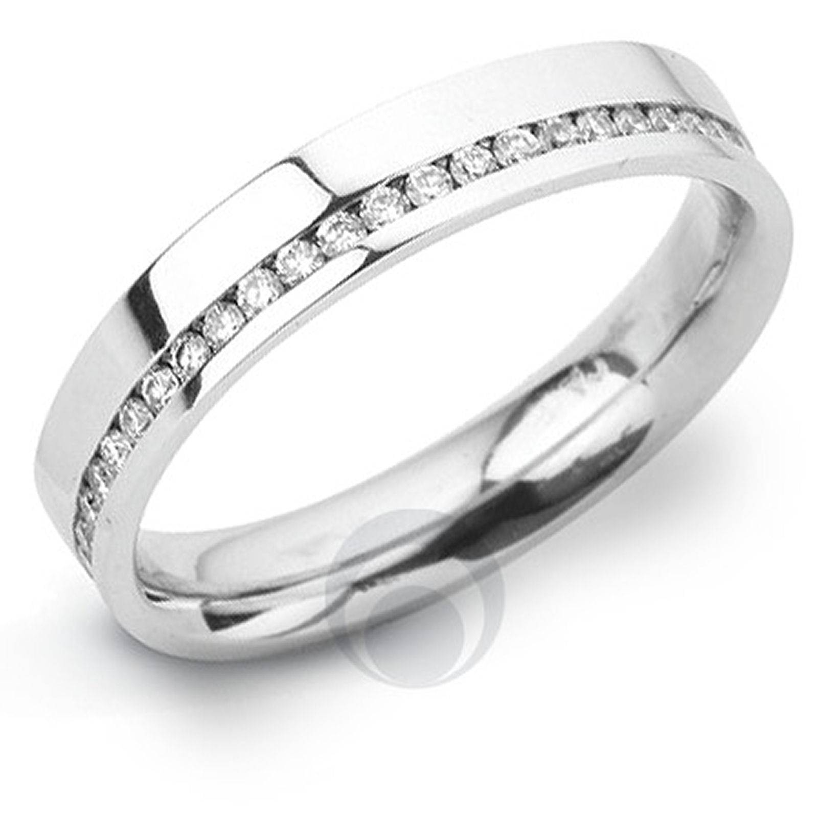 Channel Diamond Platinum Wedding Ring Wedding Dress From The In Platinum And Diamond Wedding Rings (View 2 of 15)