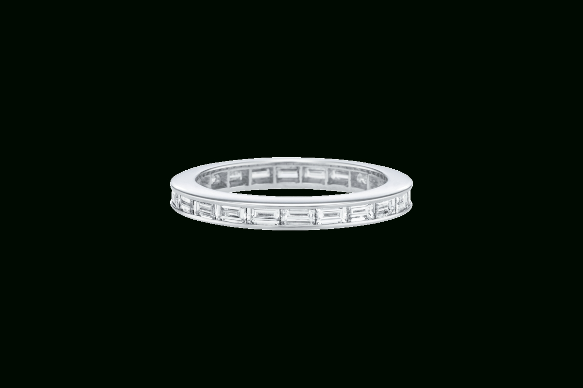 Channel Set Baguette Cut Wedding Band | Harry Winston Regarding Harry Winston Men Wedding Bands (View 2 of 15)