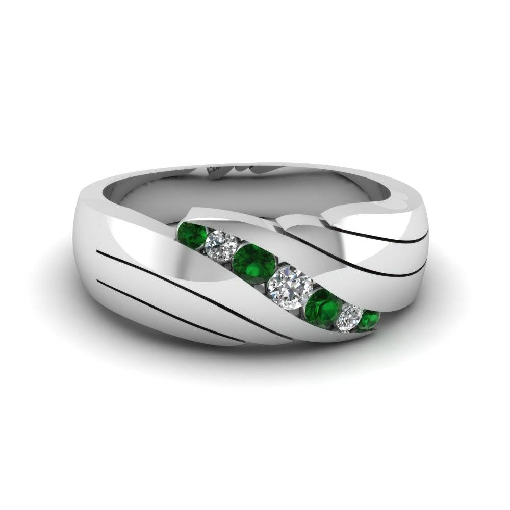 Featured Photo of Men's Wedding Bands Emerald