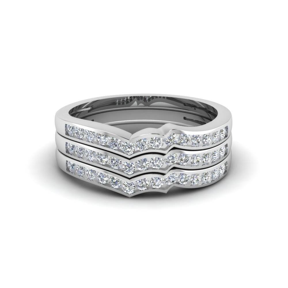 Channel Set Stacked Diamond Women Wedding Band In 950 Platinum With Regard To Women's Wedding Bands (View 11 of 15)