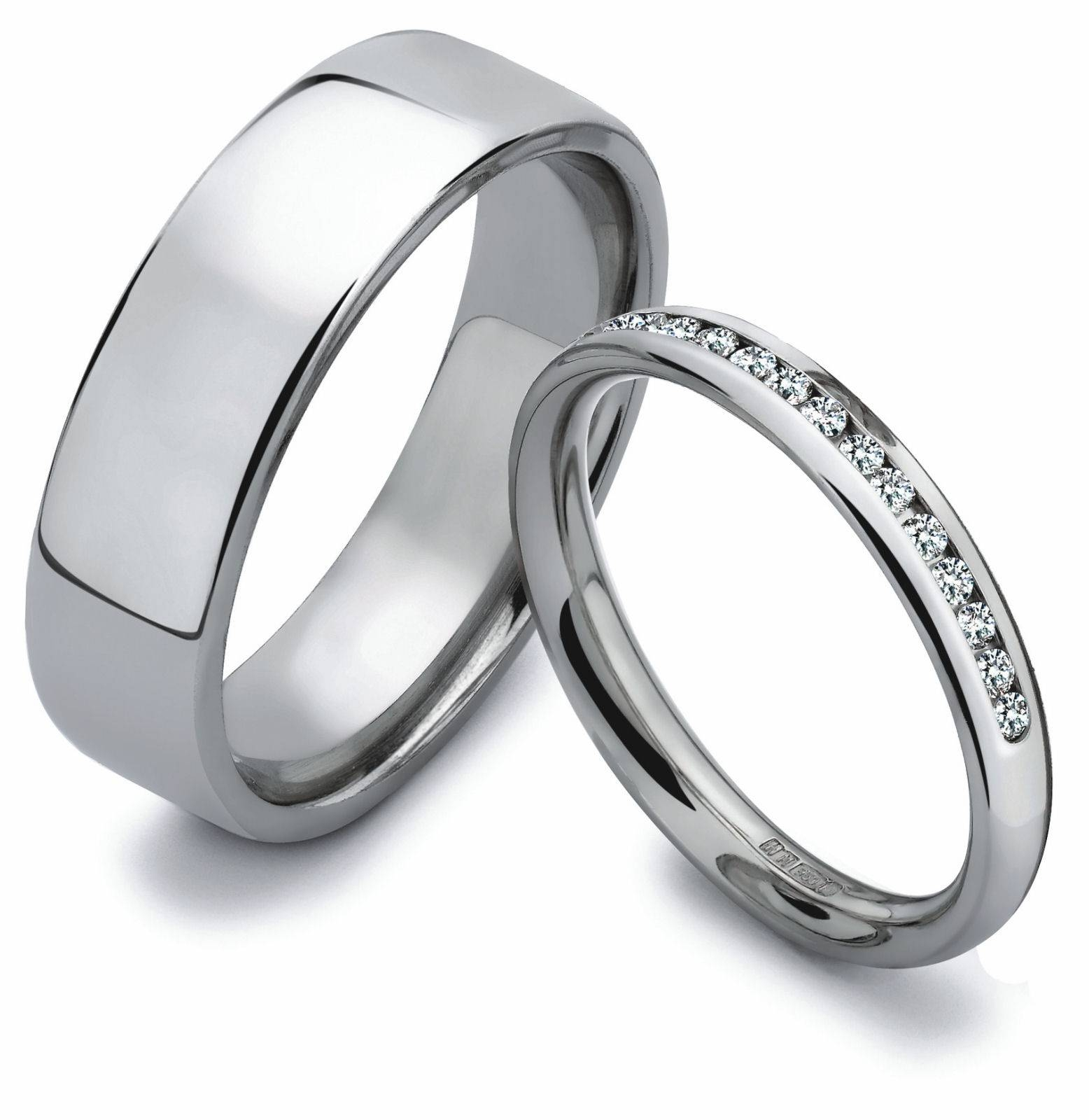 His And Hers Wedding Ring Sets Ideas Regarding Anium Bands
