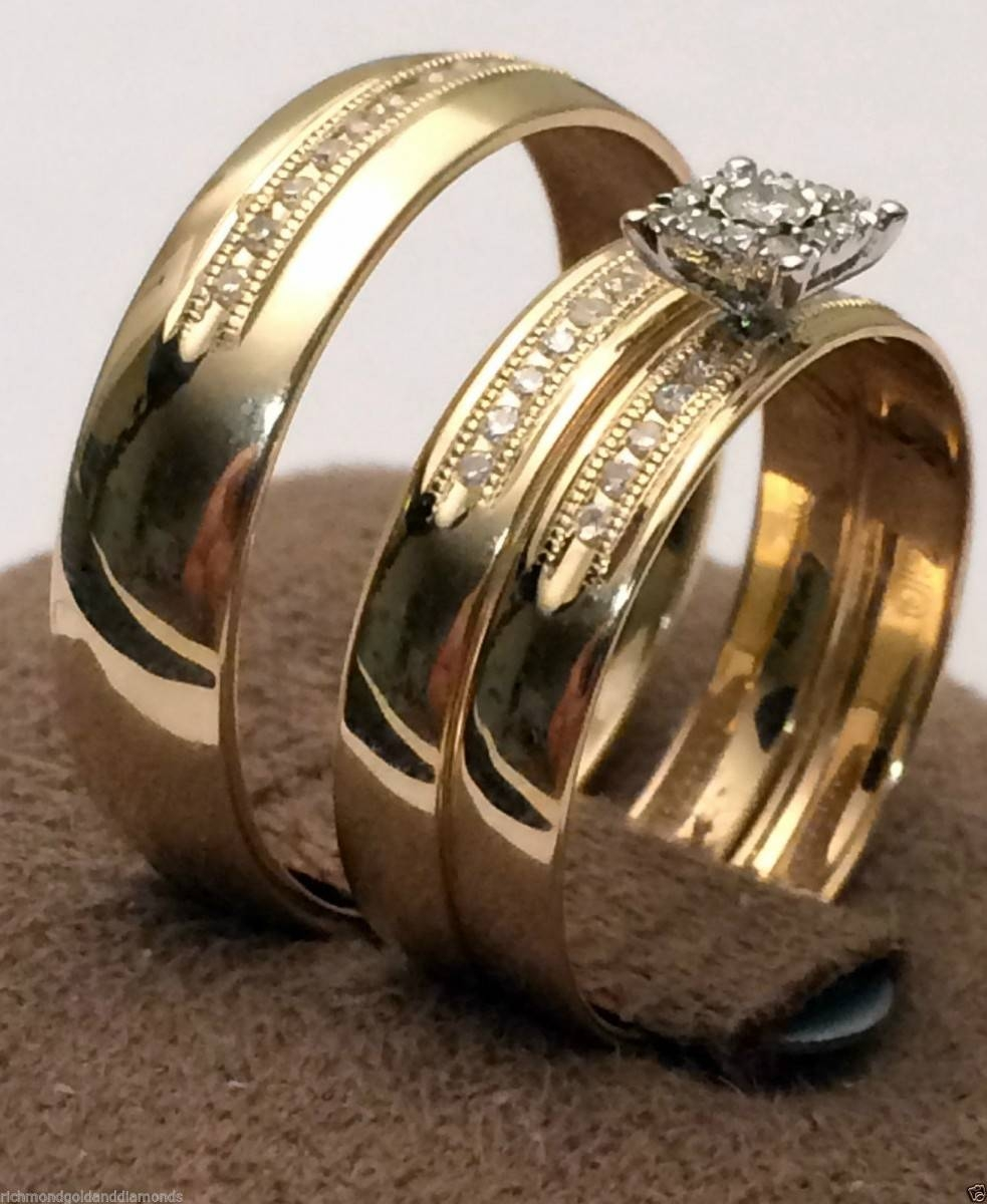 Cheap Matching Wedding Bands For Him And Her | Wedding Ideas With Regard To Wedding Bands Sets For Him And Her (View 11 of 15)
