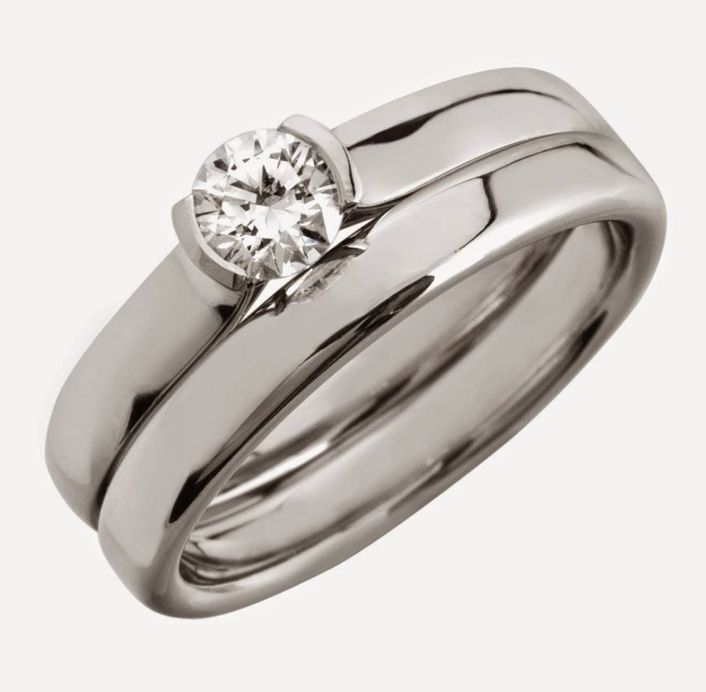 Cheap Silver Bridal Ring Sets With Small Diamond Model Inside Wedding Bands View